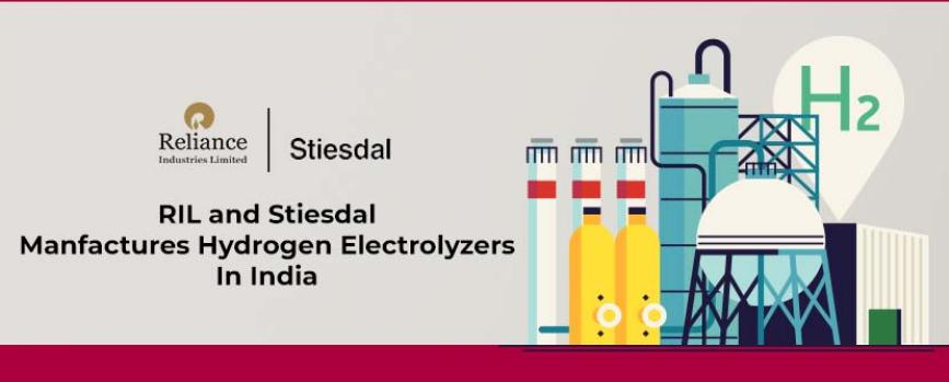 Reliance and Stiesdal to Manufacture Hydrogen Electrolyzers