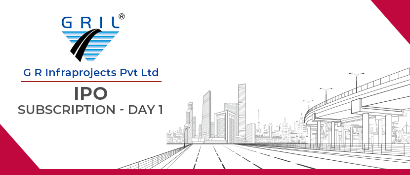 G R Infraprojects IPO subscription Details - Day 1