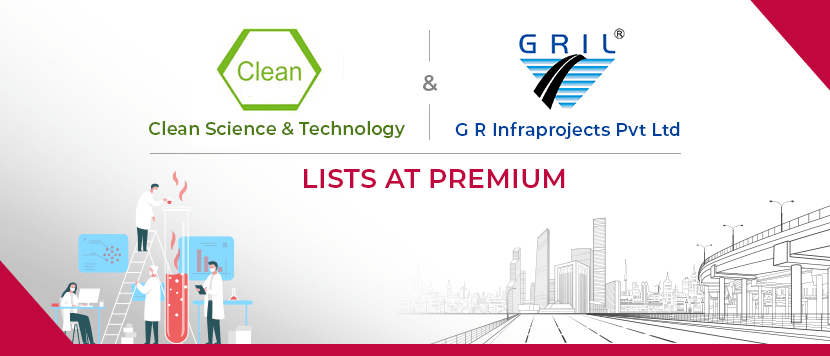 GR Infrastructure and Clean Science list at premiums