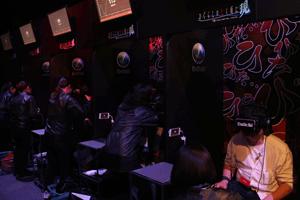 VRパニック体験会は発表会会場とは別に設けられていた