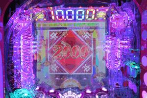 通常時は10,000pt達成で大当たり濃厚。FREE GAME発展で大量pt獲得のチャンス