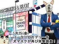 【5/25(金)】パーラーピカデリーの『5月25日』はどうなんだ!?犬マスクが再び調査!