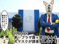 【9/1(土)】第一プラザ5店舗合同調査! 霞ヶ関店は犬マスクが突撃調査するぞ~!