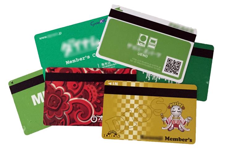 同一チェーンであっても基本的に会員カードは一店舗につき一枚
