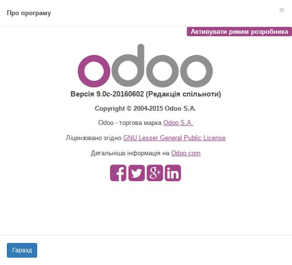 Текстовий та графічний блок Odoo
