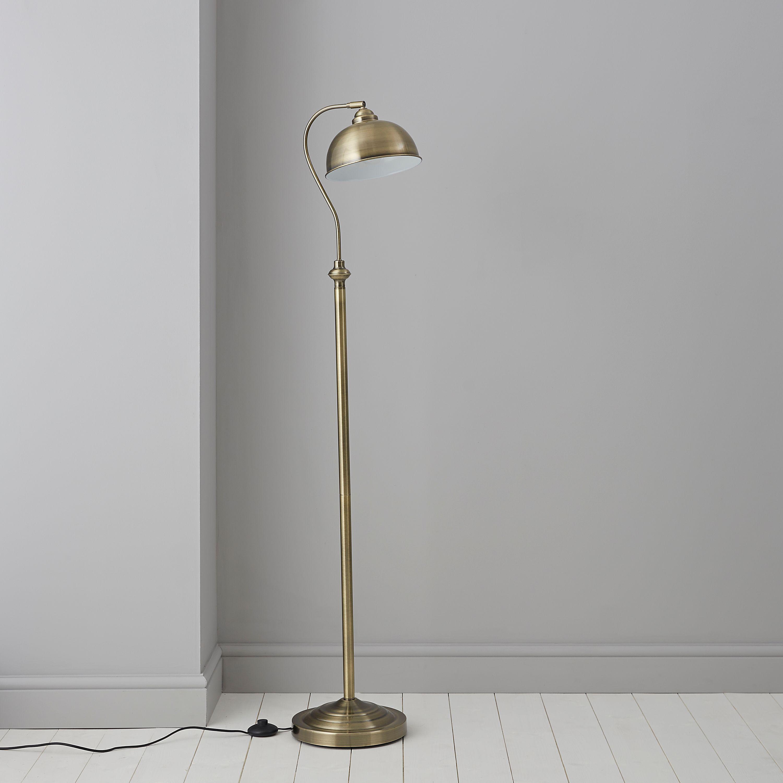 Carswell gold floor lamp