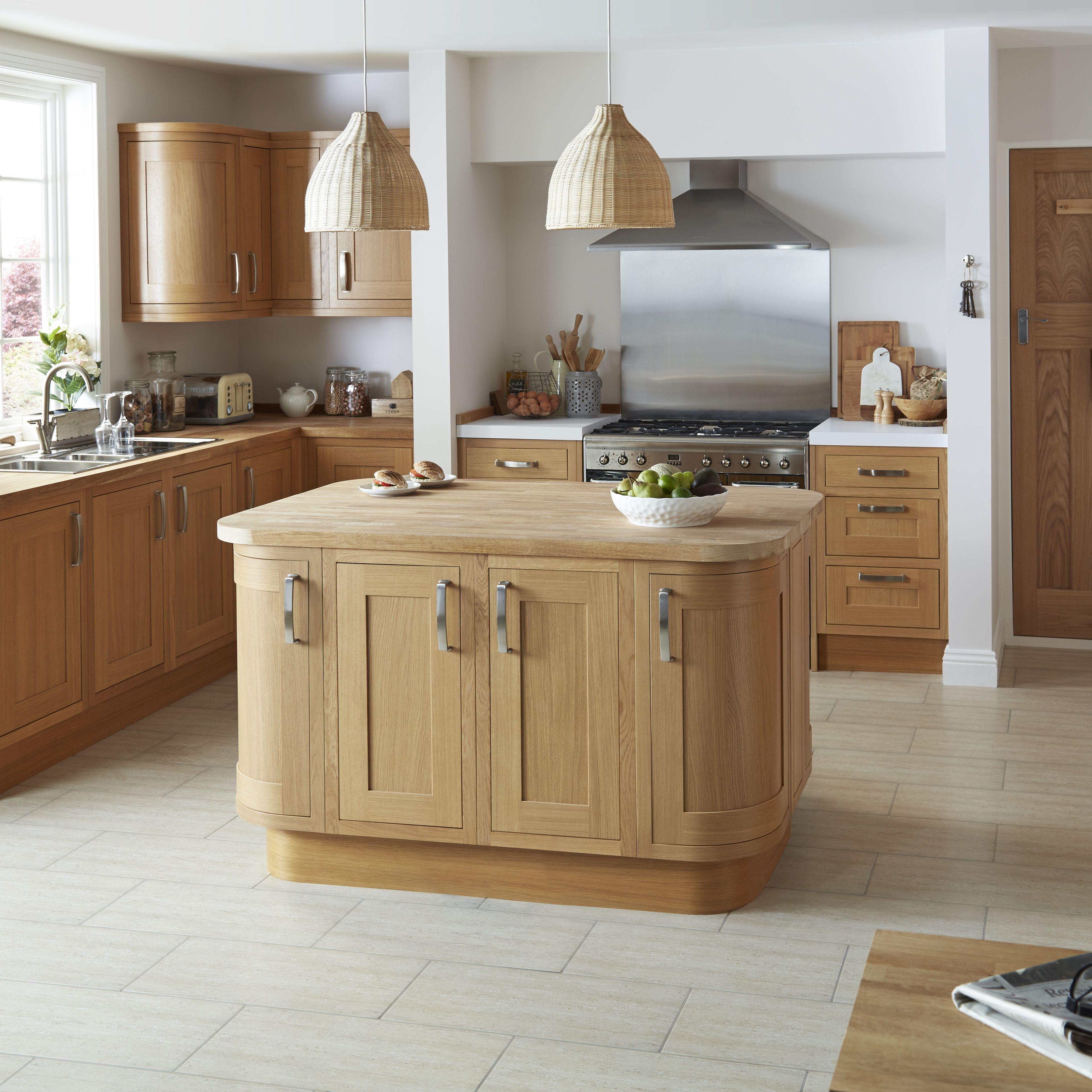 Cooke & Lewis Kitchens Natural Oak Effect Straight Plinth (L)3050mm