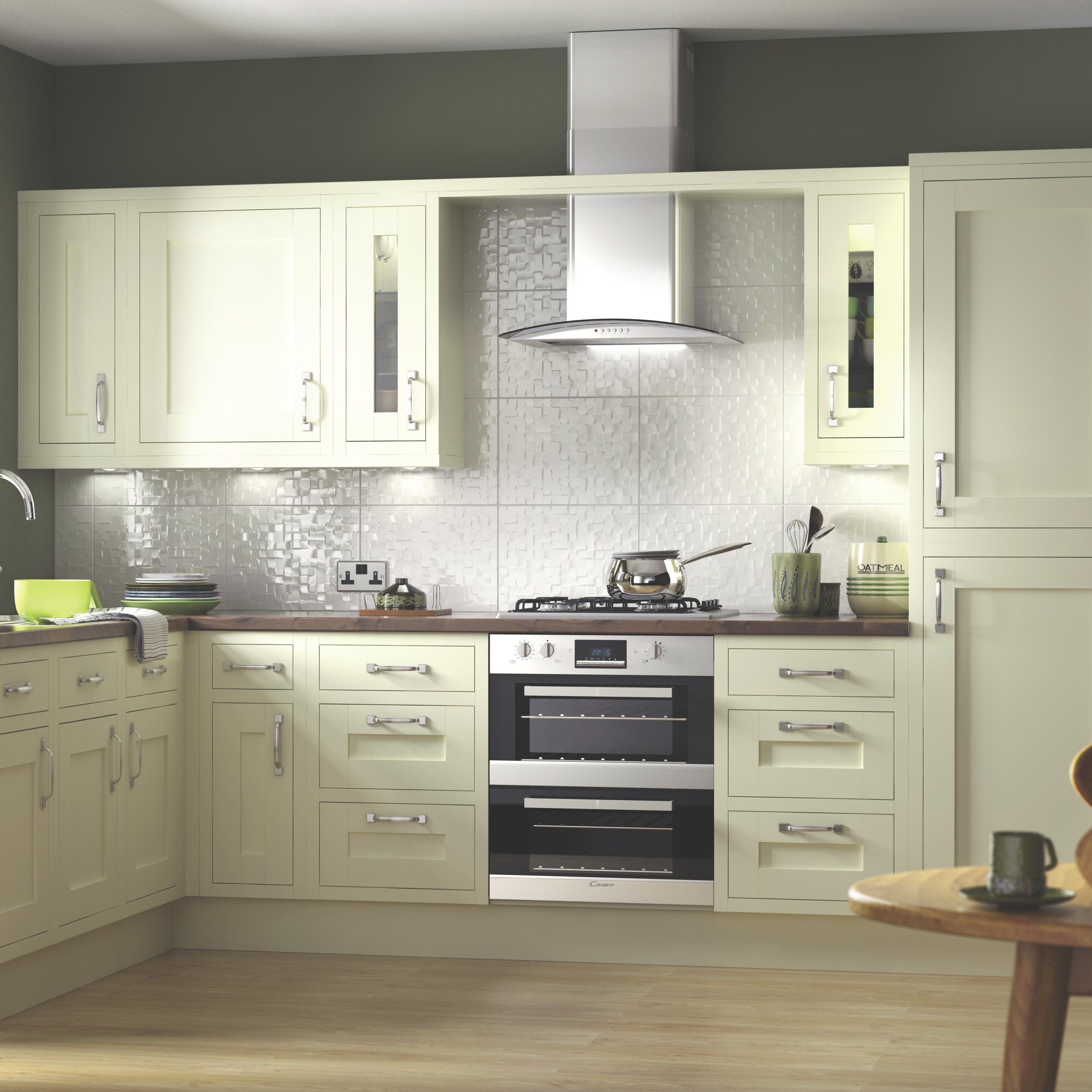 IT Kitchens Holywell Ivory Style Framed Larder Door (W)300mm Set of 2 : larder doors - pezcame.com