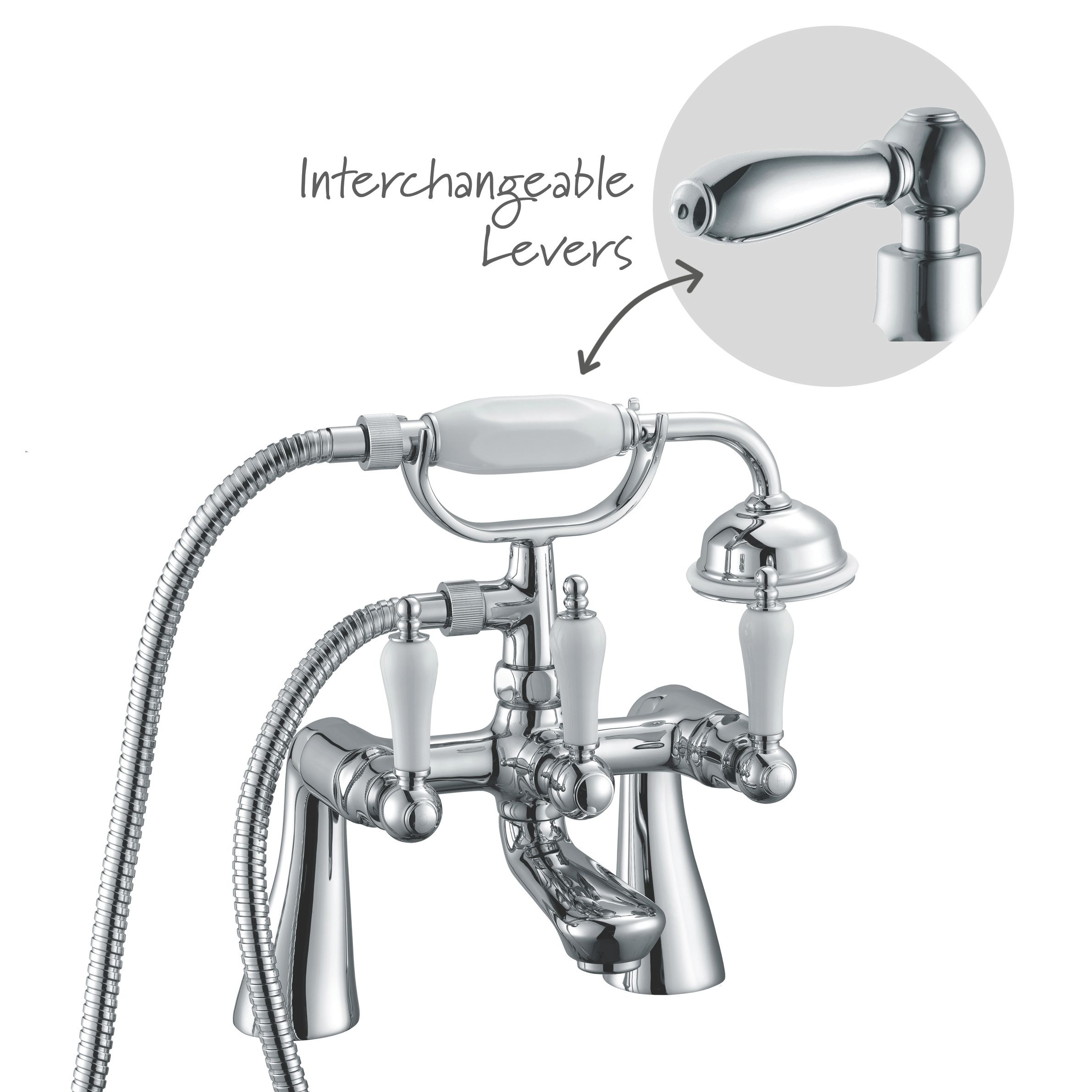 Cooke & Lewis Timeless Chrome Bath Shower Mixer Tap