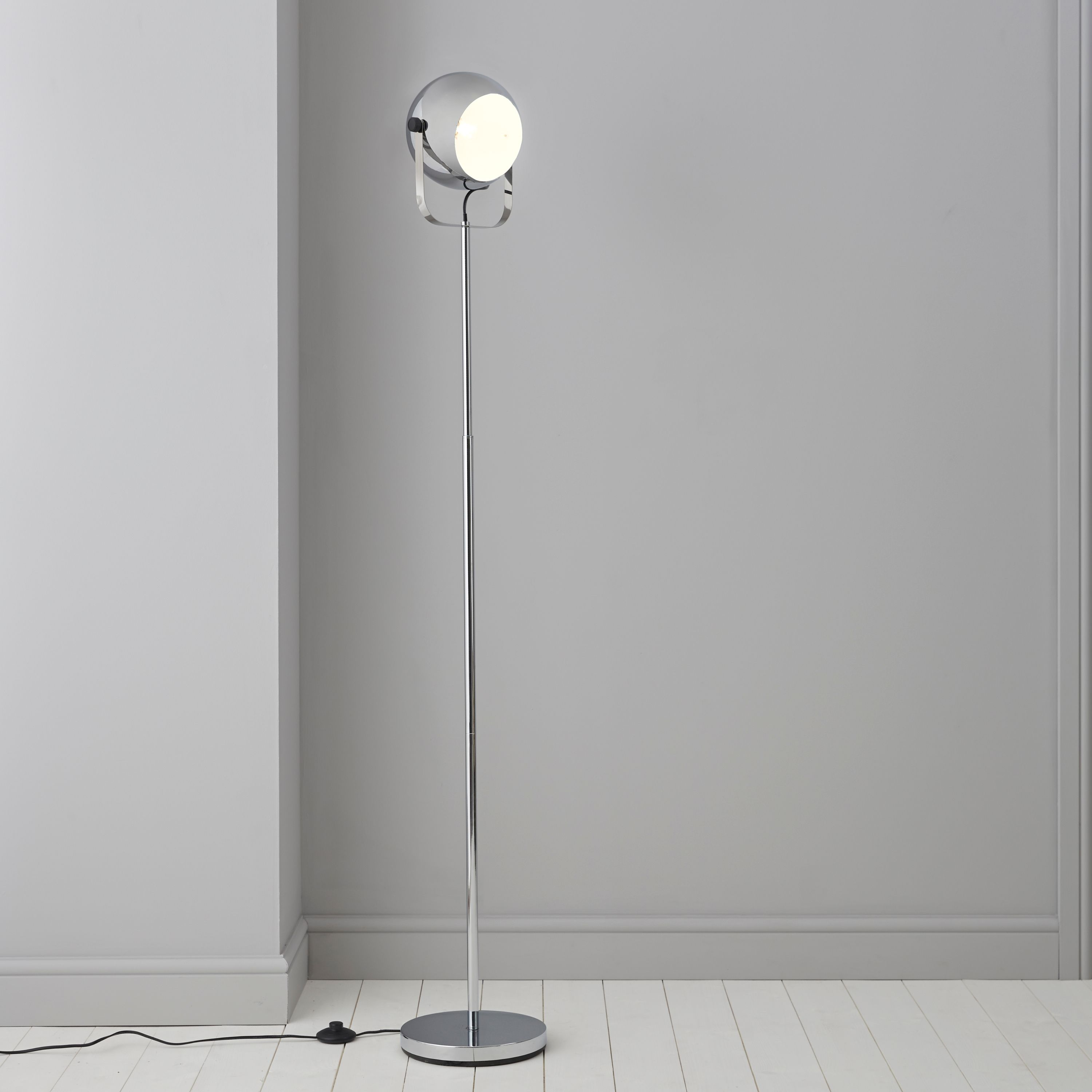 Bobo silver chrome effect floor lamp mozeypictures Image collections