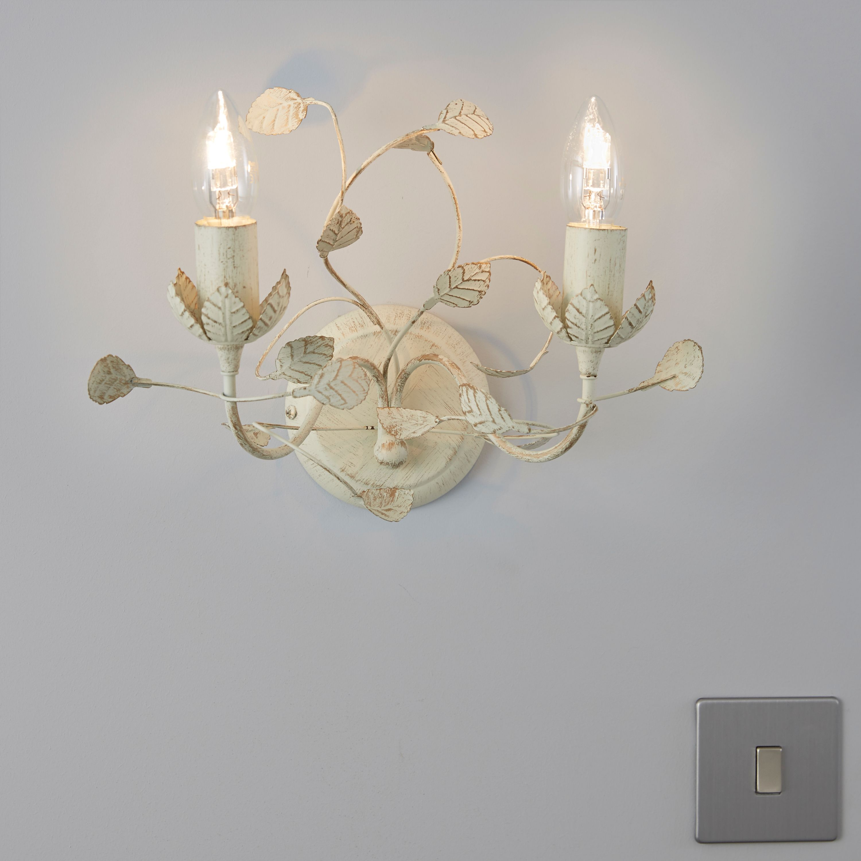 Eva leaf cream double wall light mozeypictures Images