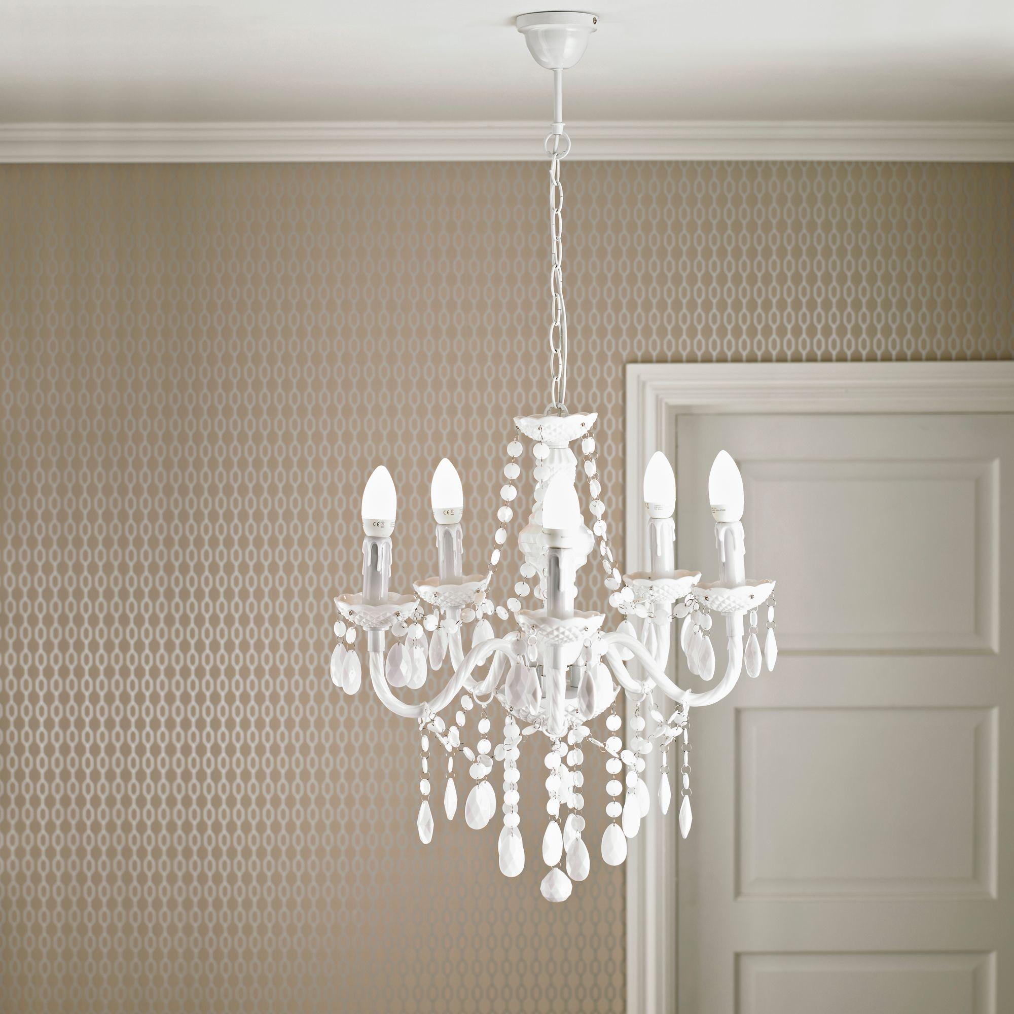 Wickham White 5 Lamp Pendant Ceiling Light