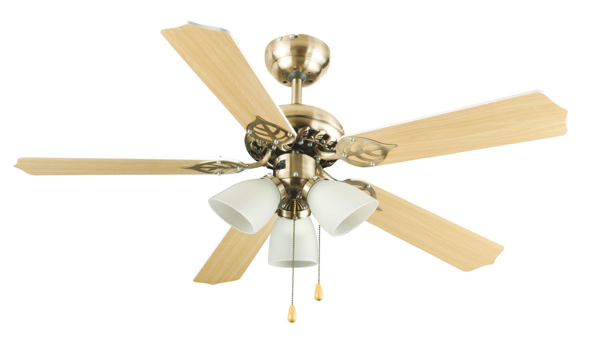 Carolina antique brass effect ceiling fan light mozeypictures Gallery
