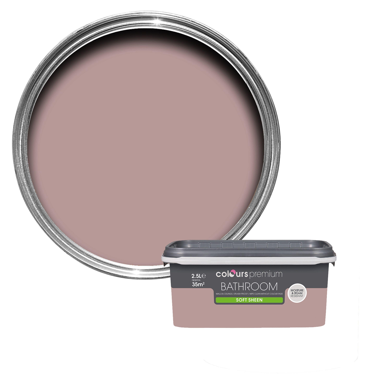 Astounding Colours Bathroom Muted Rose Soft Sheen Emulsion Paint 2 5L Interior Design Ideas Apansoteloinfo