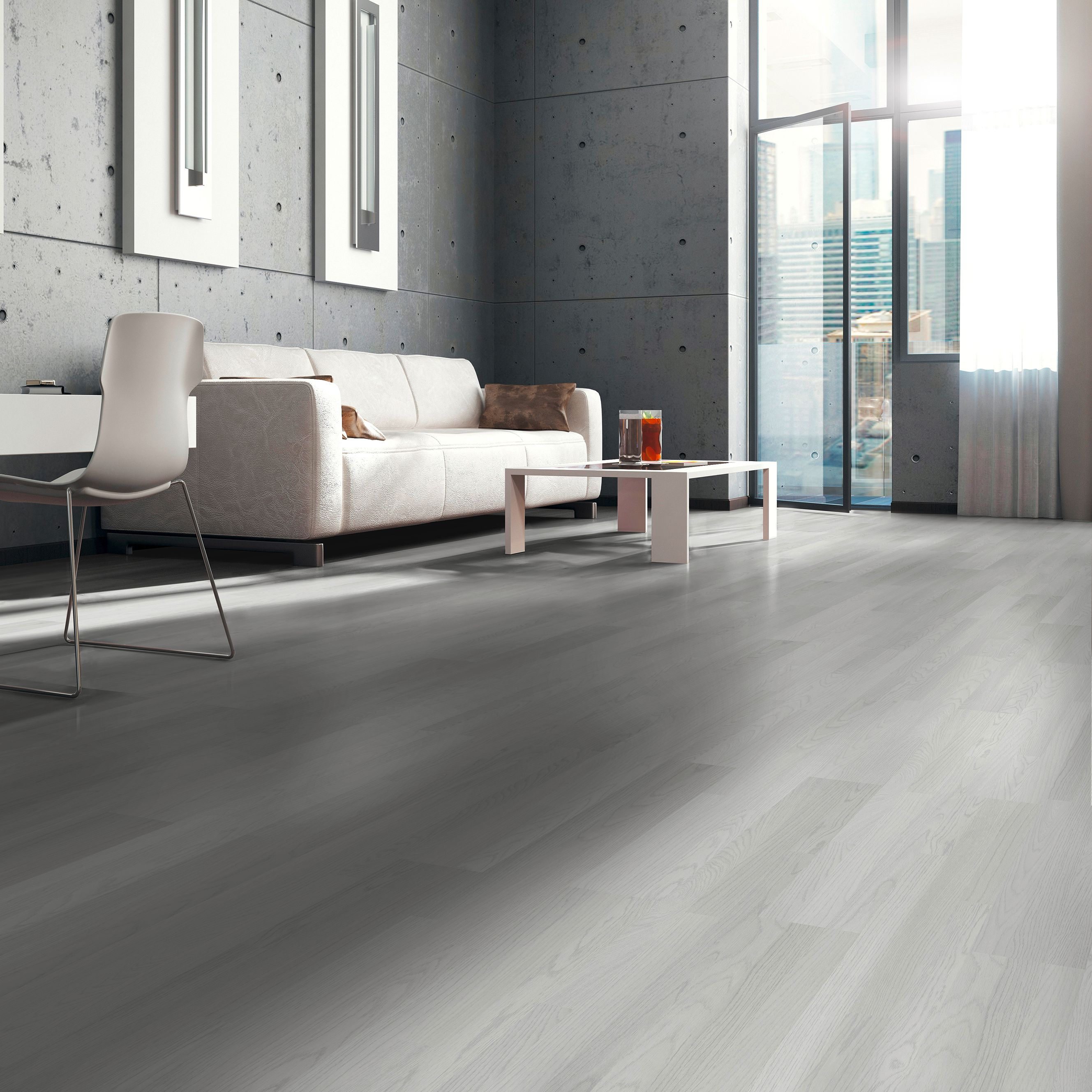 Whitewash Oak White Wood Effect Laminate Flooring 3 M² Pack