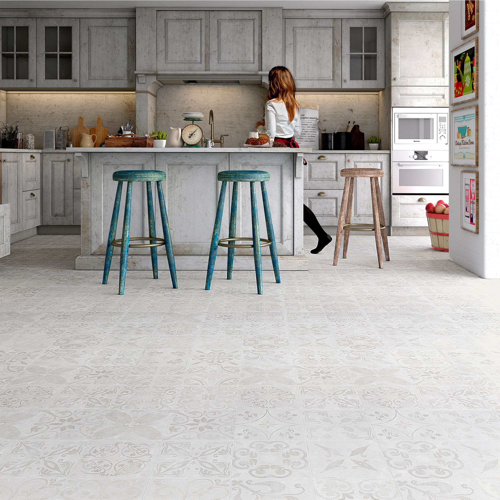 Leggiero Beige Tile Effect Laminate Flooring 186 M Pack