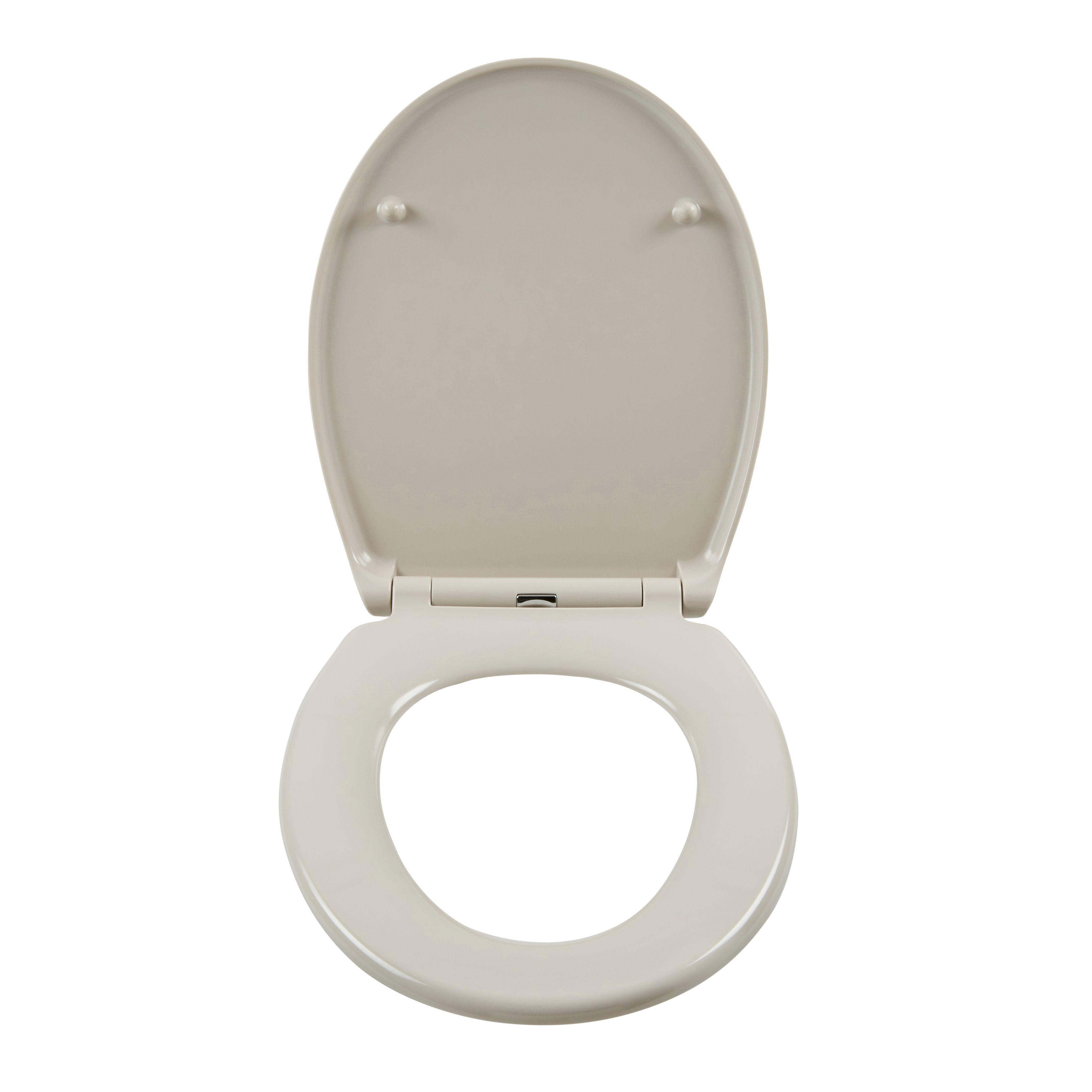 Cooke Lewis Diani Cream Top Fix Soft Close Toilet Seat