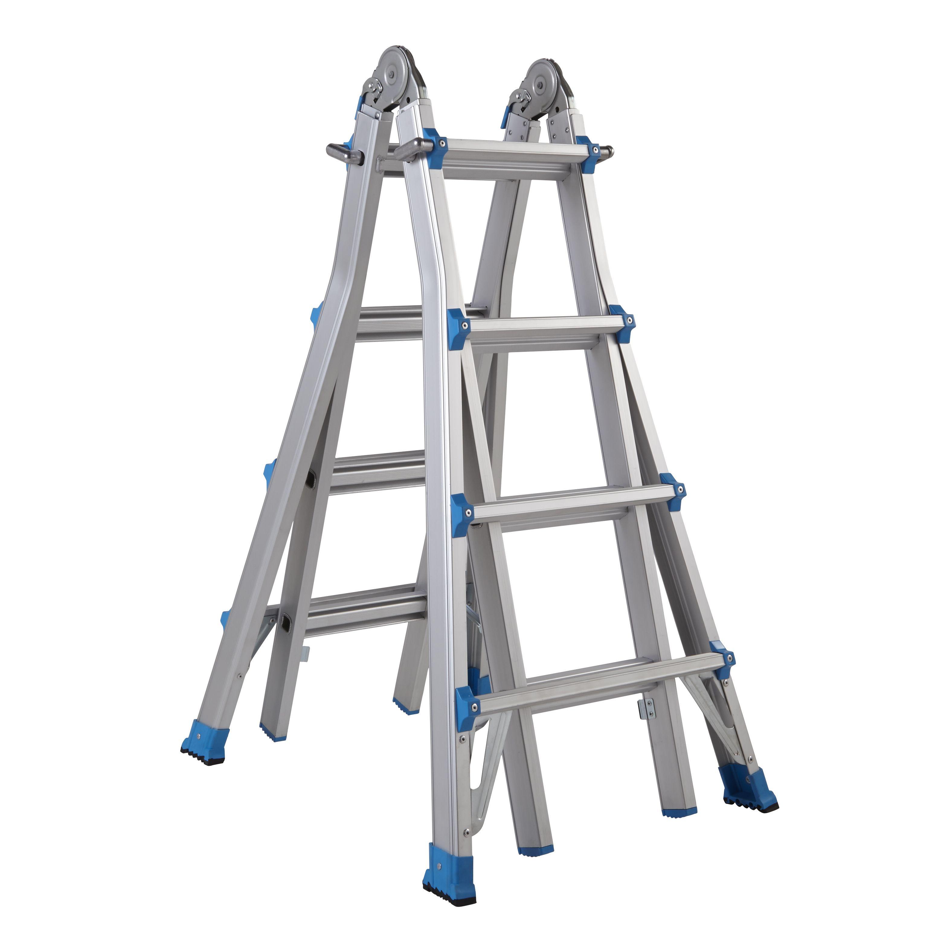 Mac Allister Extendable 16 Tread Multi-Use Telescopic Ladder
