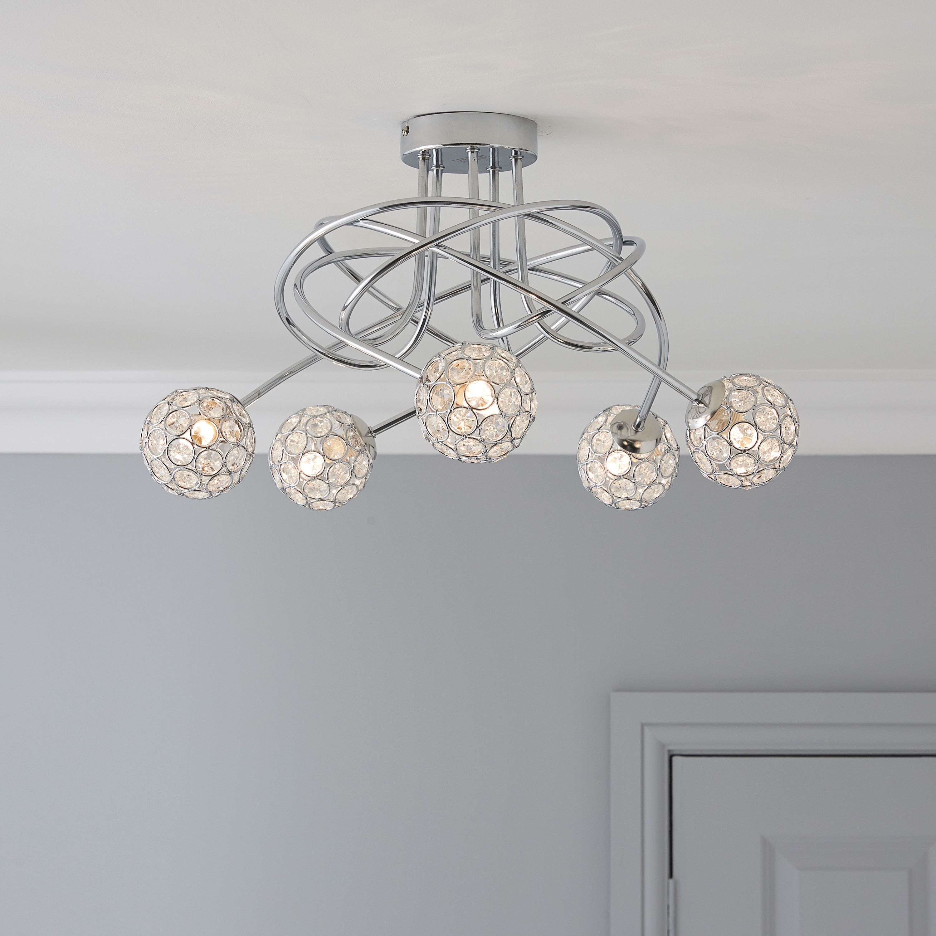 ceiling of silver annelise droplets lights awesome light mini crystal pendant lamp