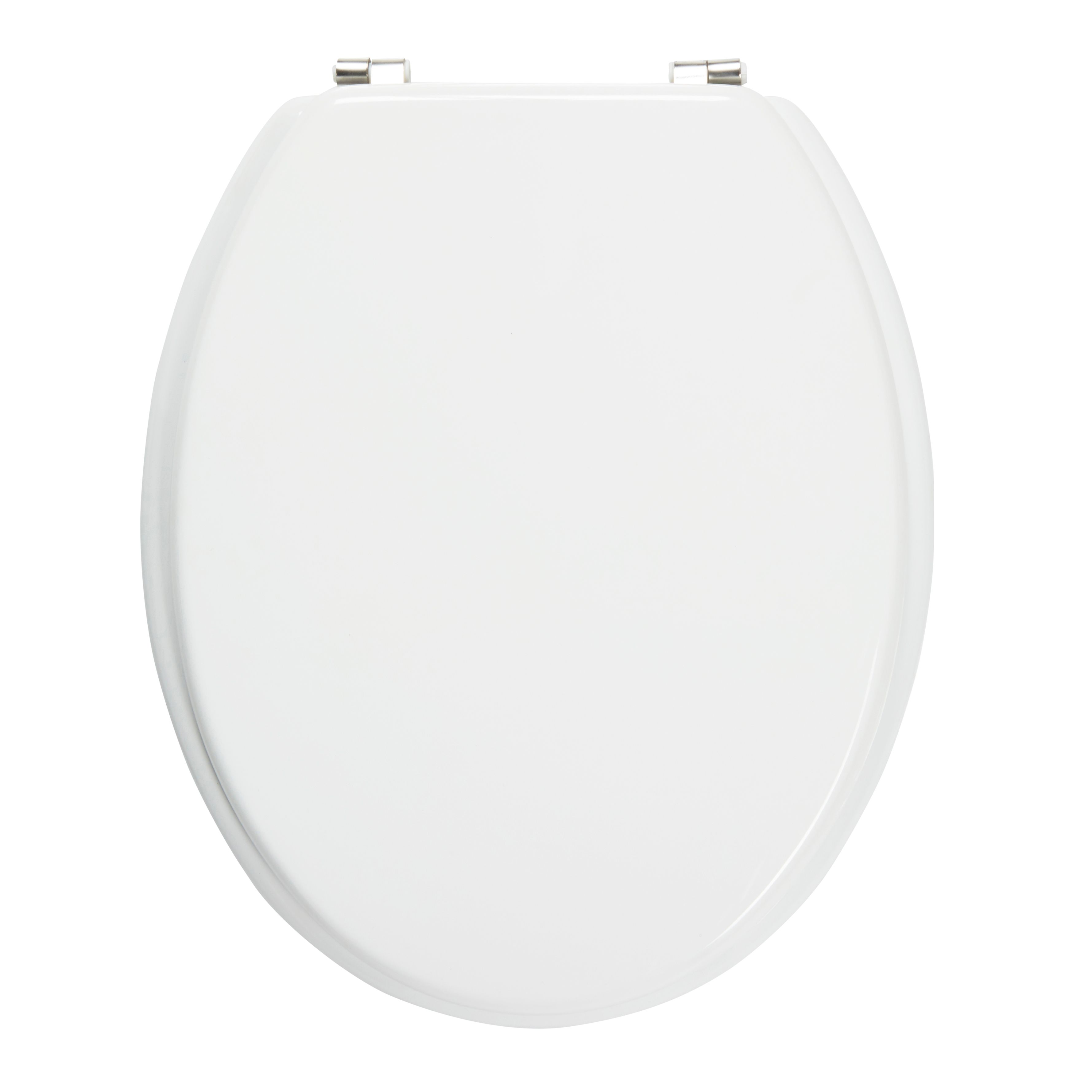 Cooke Lewis Palmi White Standard Close Toilet Seat