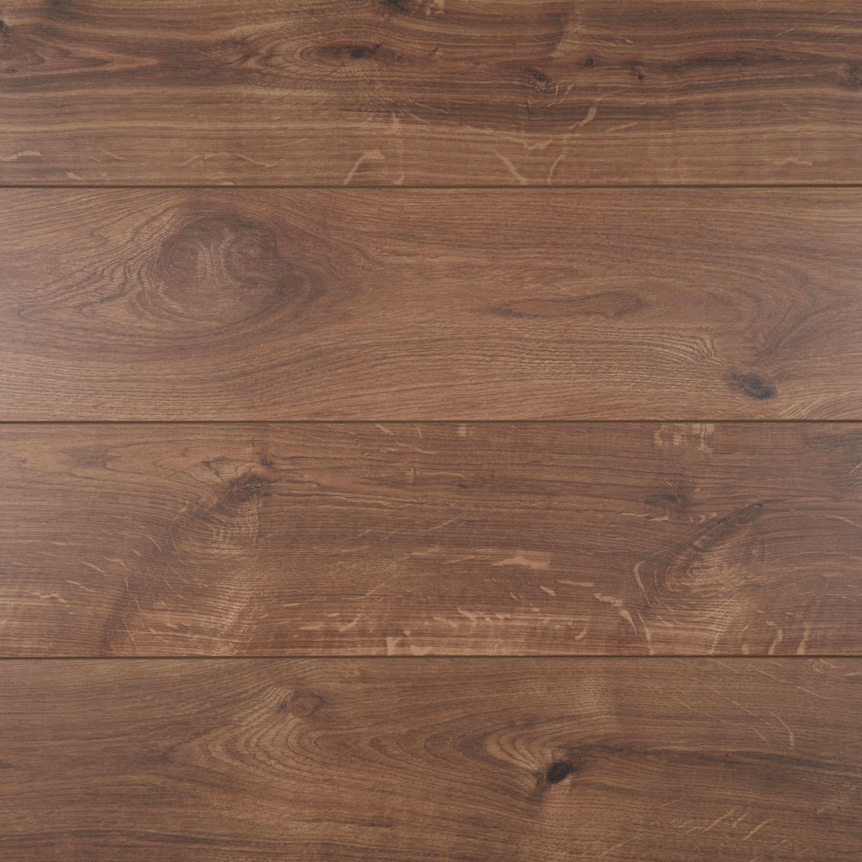 B Q Milano Oak Effect Laminate Flooring Coverage