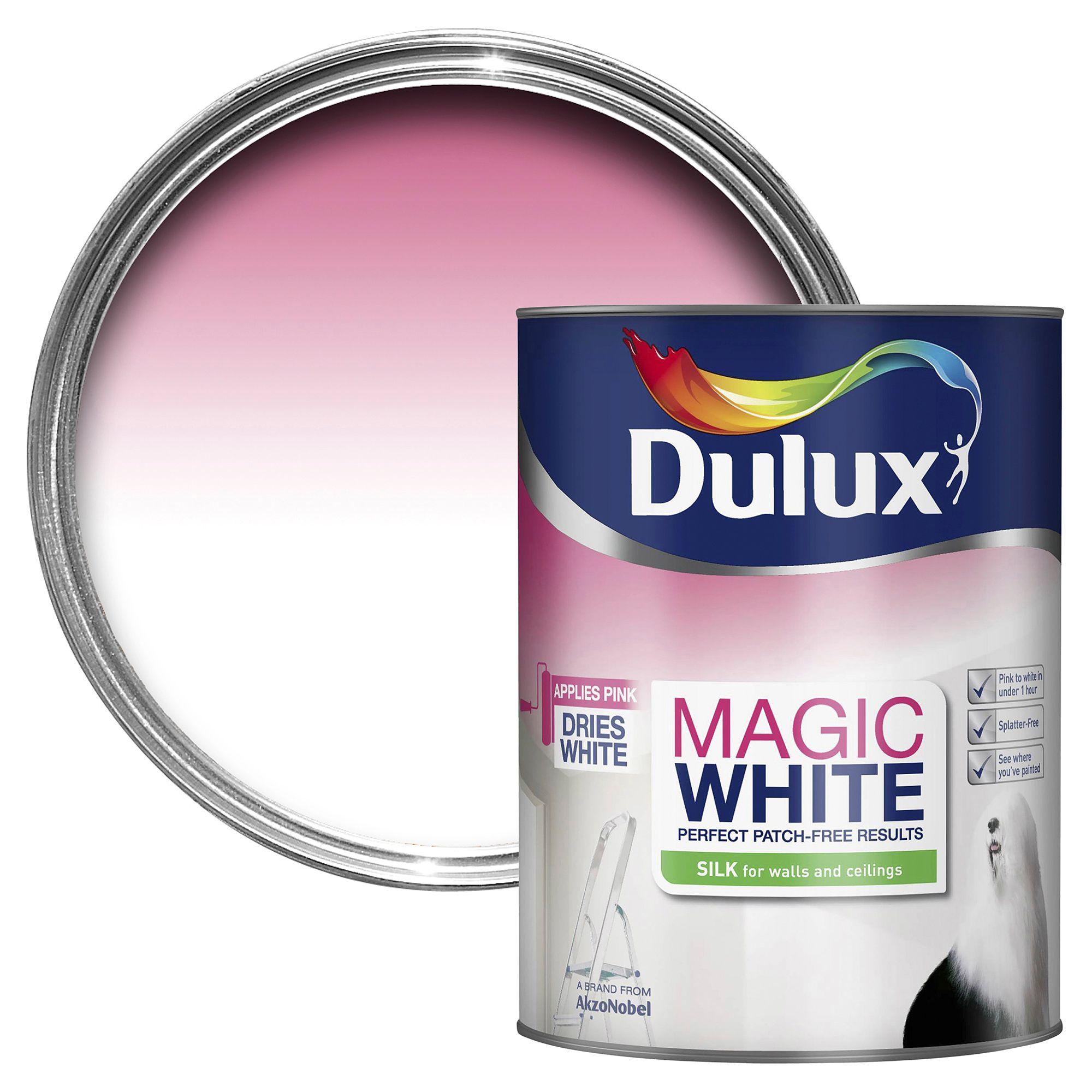 Dulux Magic Pure Brilliant White Silk Emulsion Paint 5l