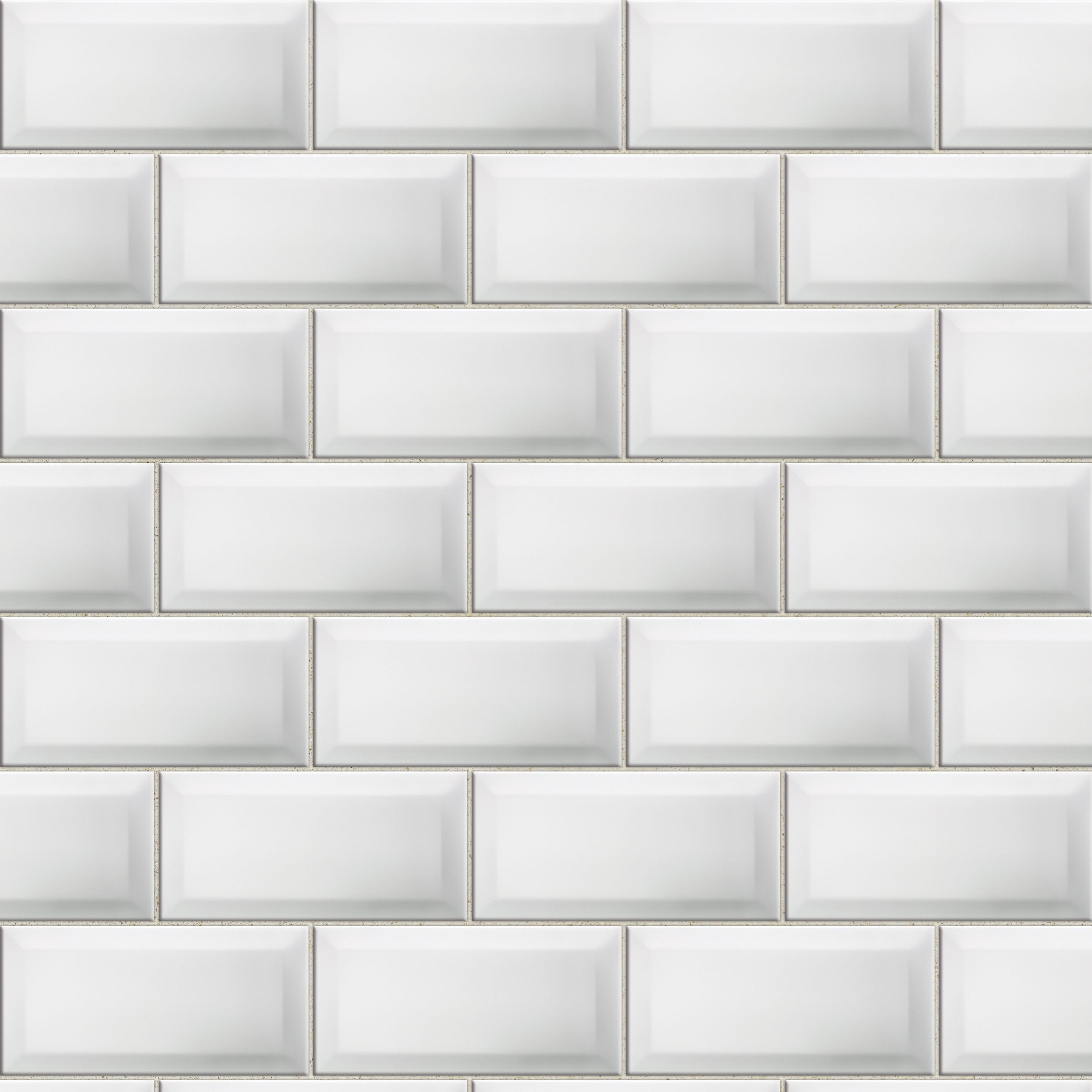 Bevelled edge white ceramic wall tile pack of 50 l200mm w100mm dailygadgetfo Choice Image