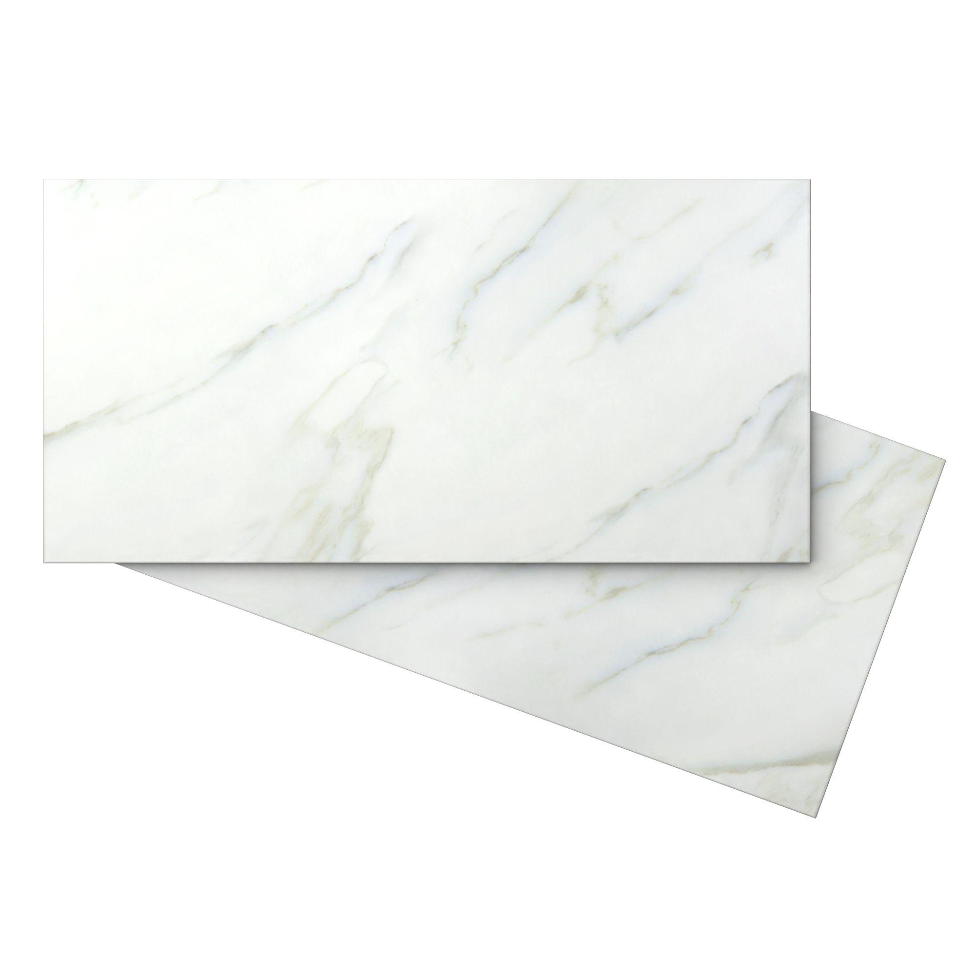 Aquila White Carrara Ceramic Wall Tile