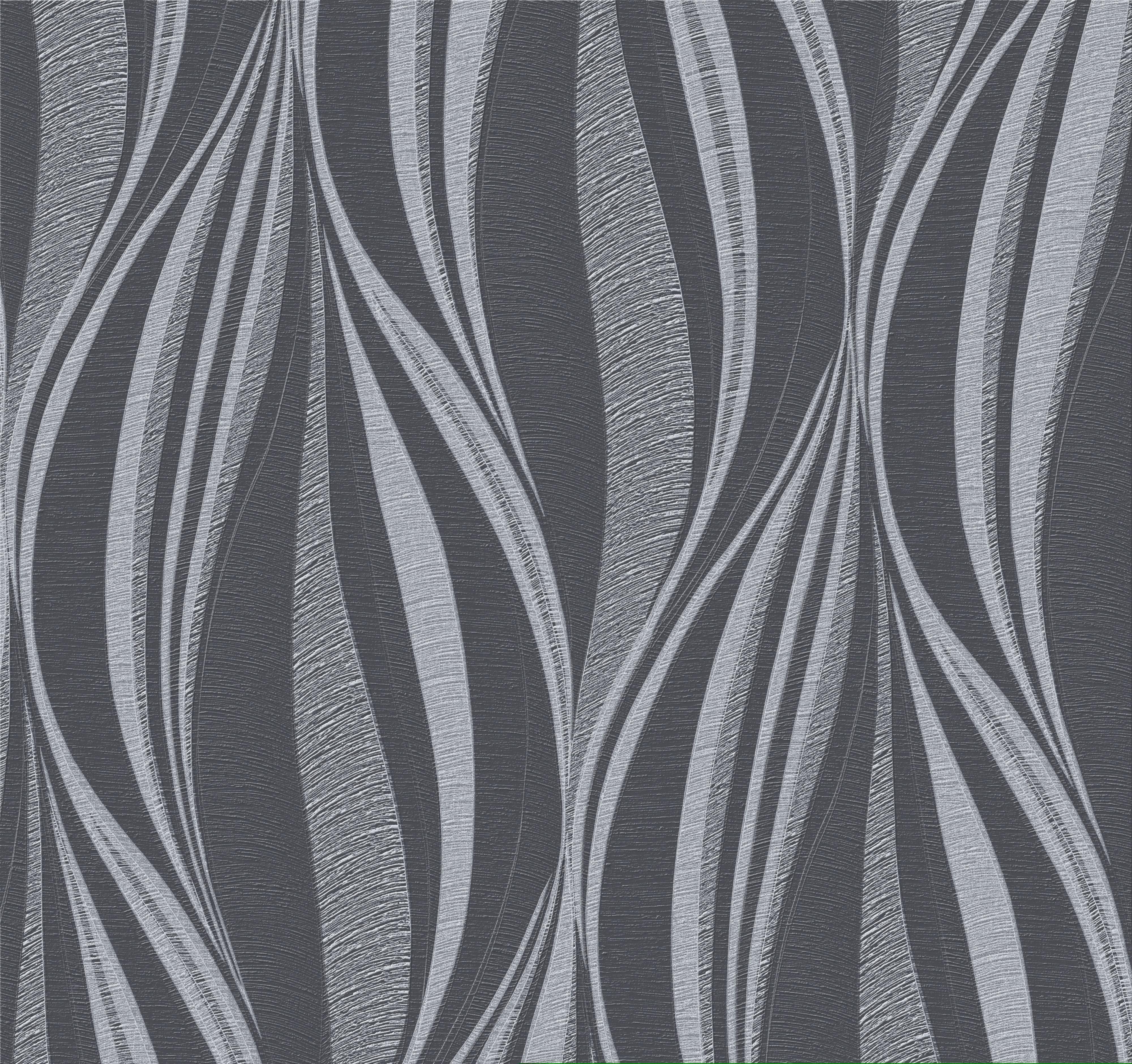 Graham Brown Boutique Black Silver Tango Glitter Metallic Wallpaper