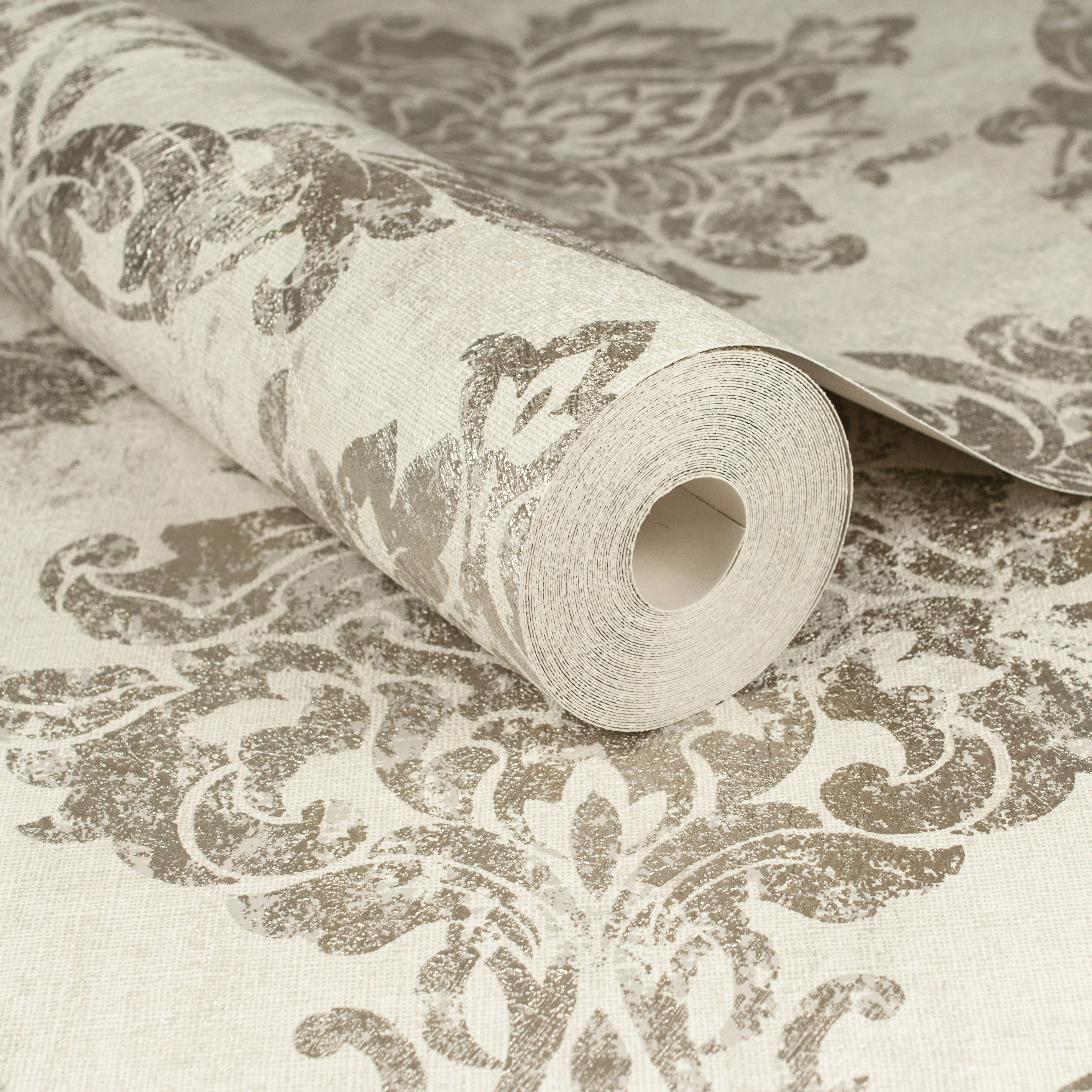 Graham Brown Boutique Gold Opal Damask Wallpaper