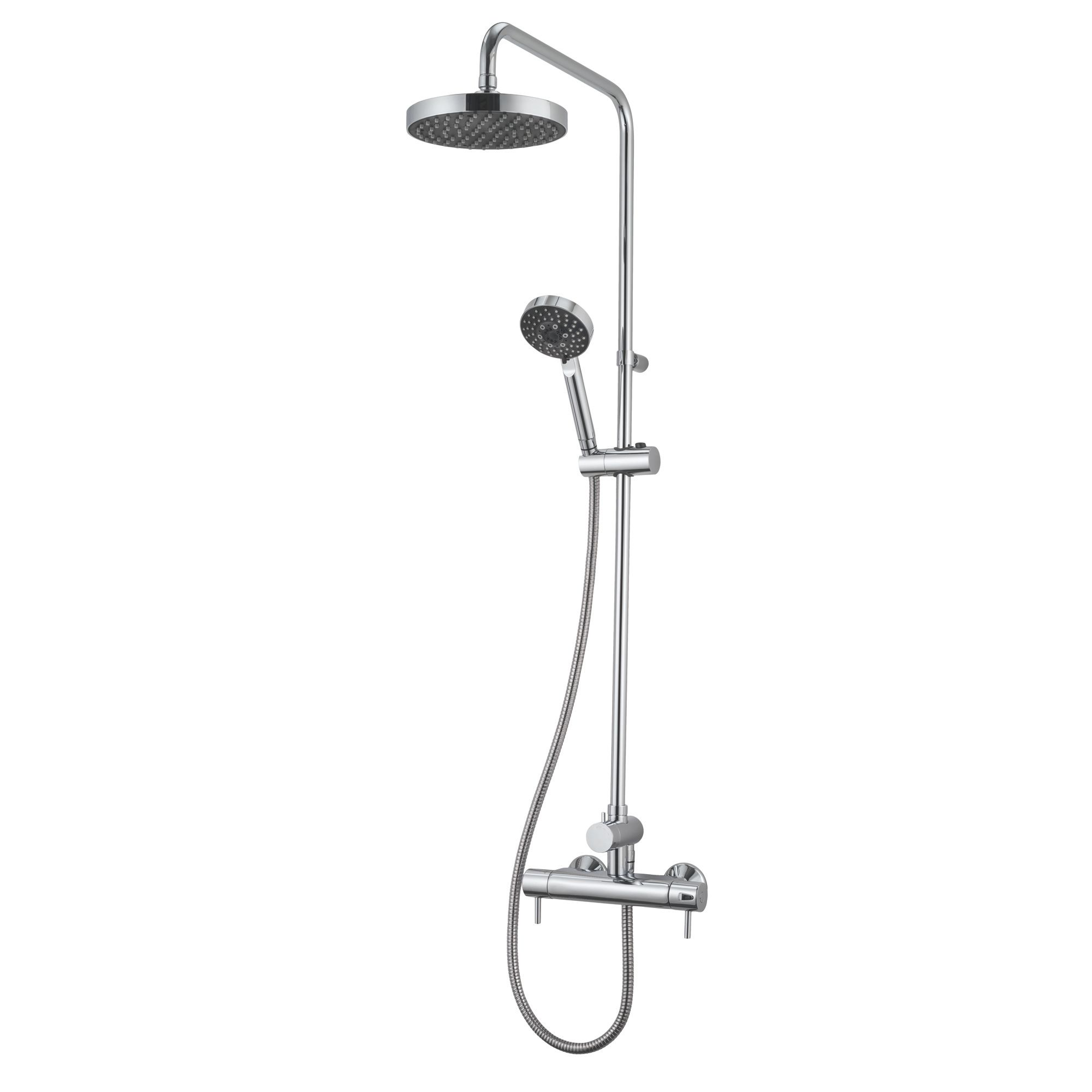 Triton Carnival Chrome Thermostatic Bar Mixer Shower With