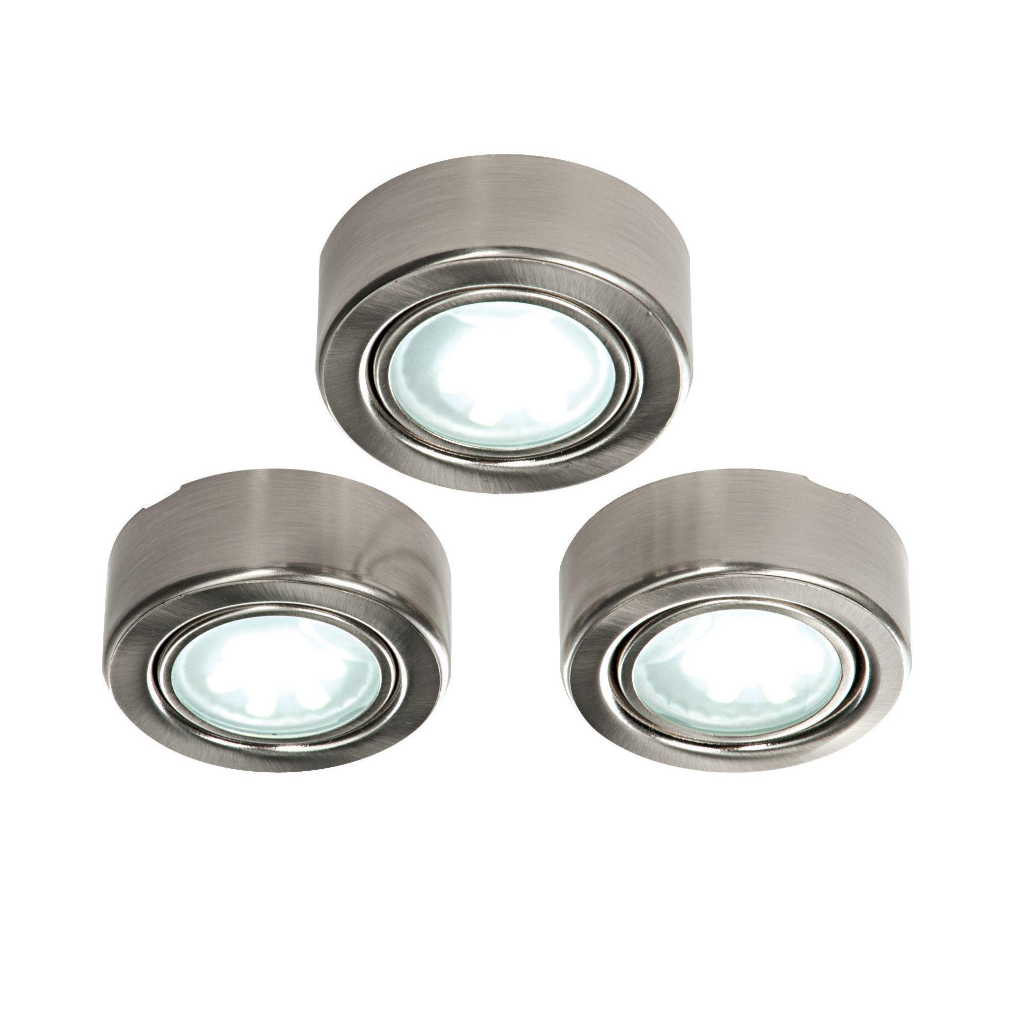 Masterlite Mains Ed Led Cabinet Light Pack Of 3