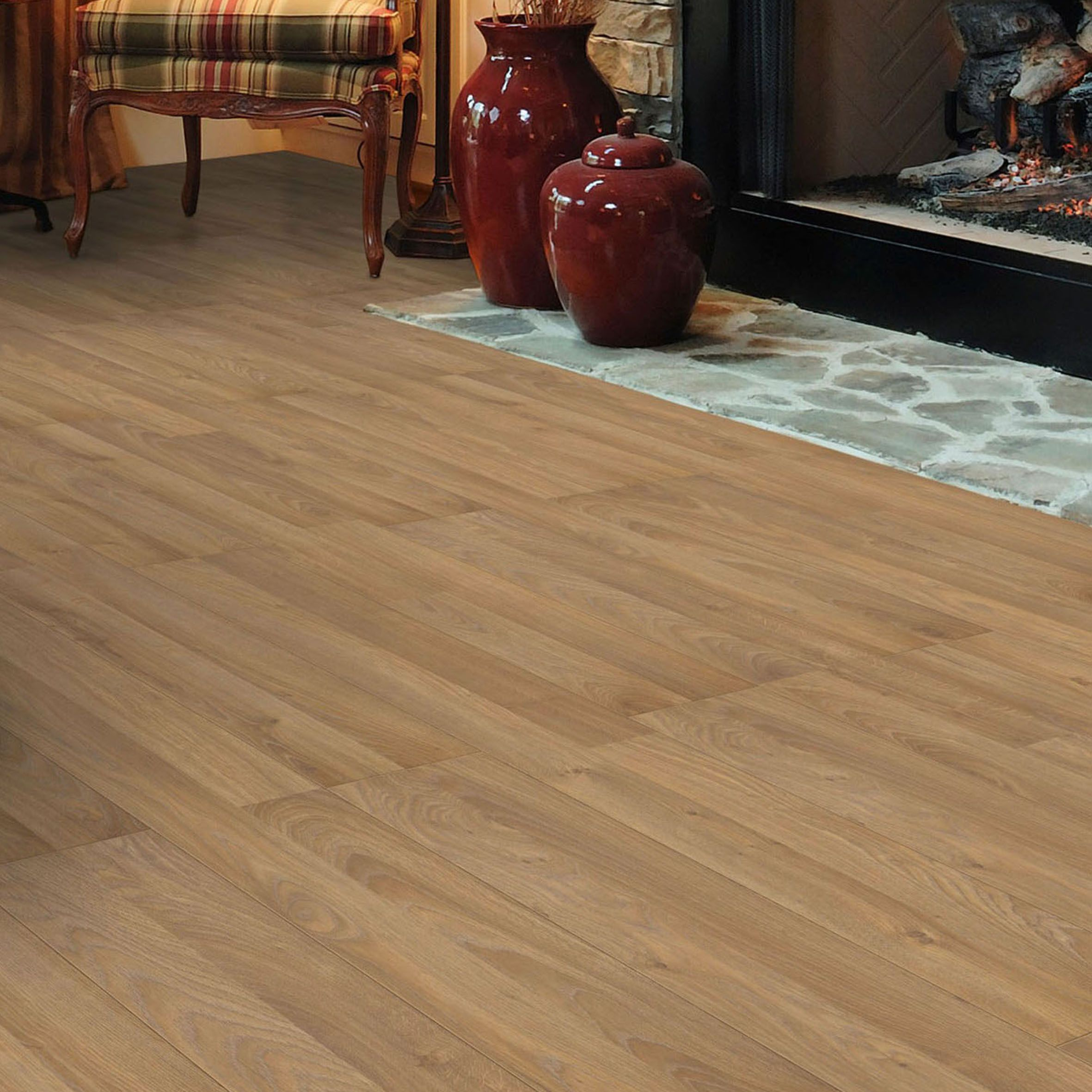 Milano Oak Laminate Flooring B Q Designs