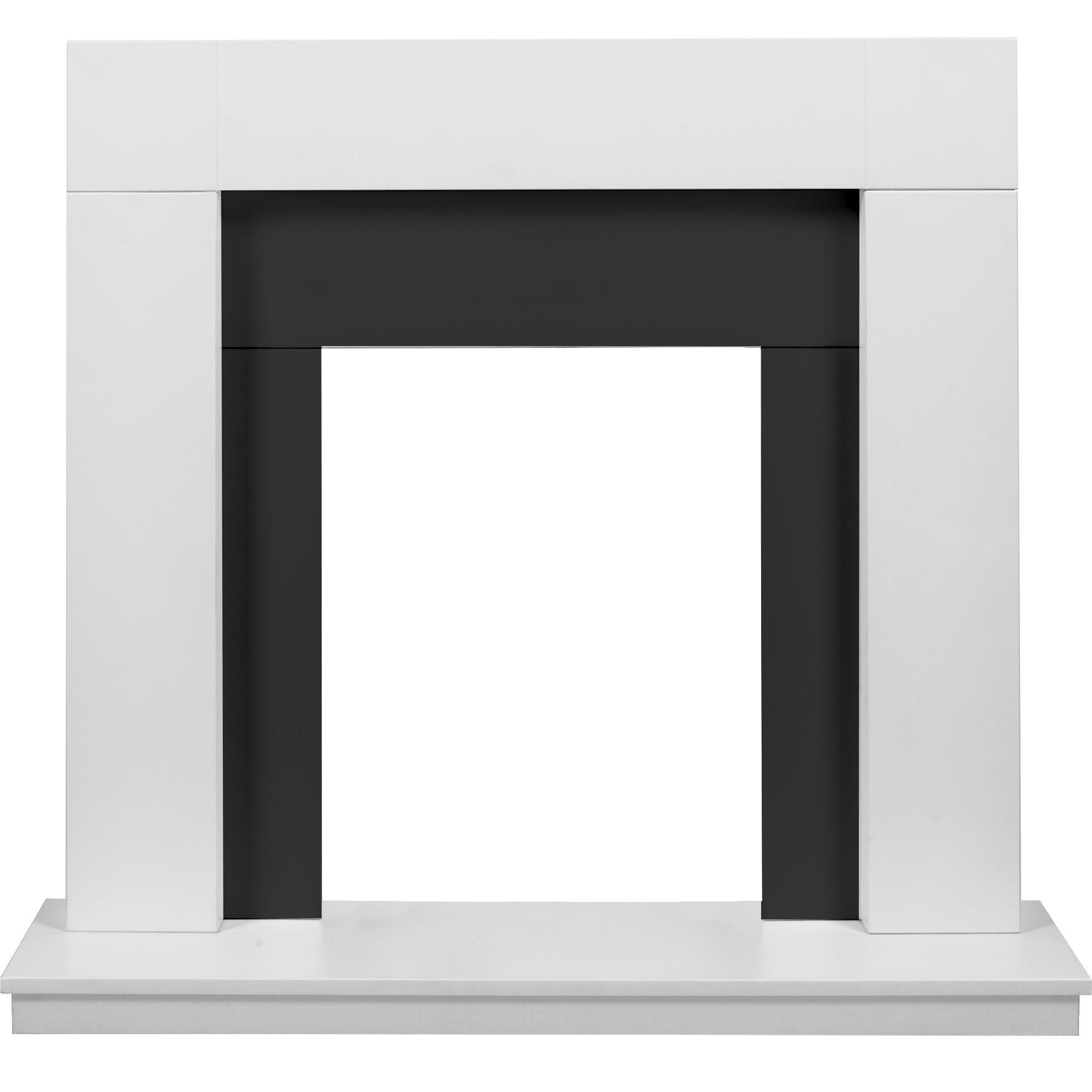 santa rosa black u0026 white mdf fire surround set h 925 w 1000mm