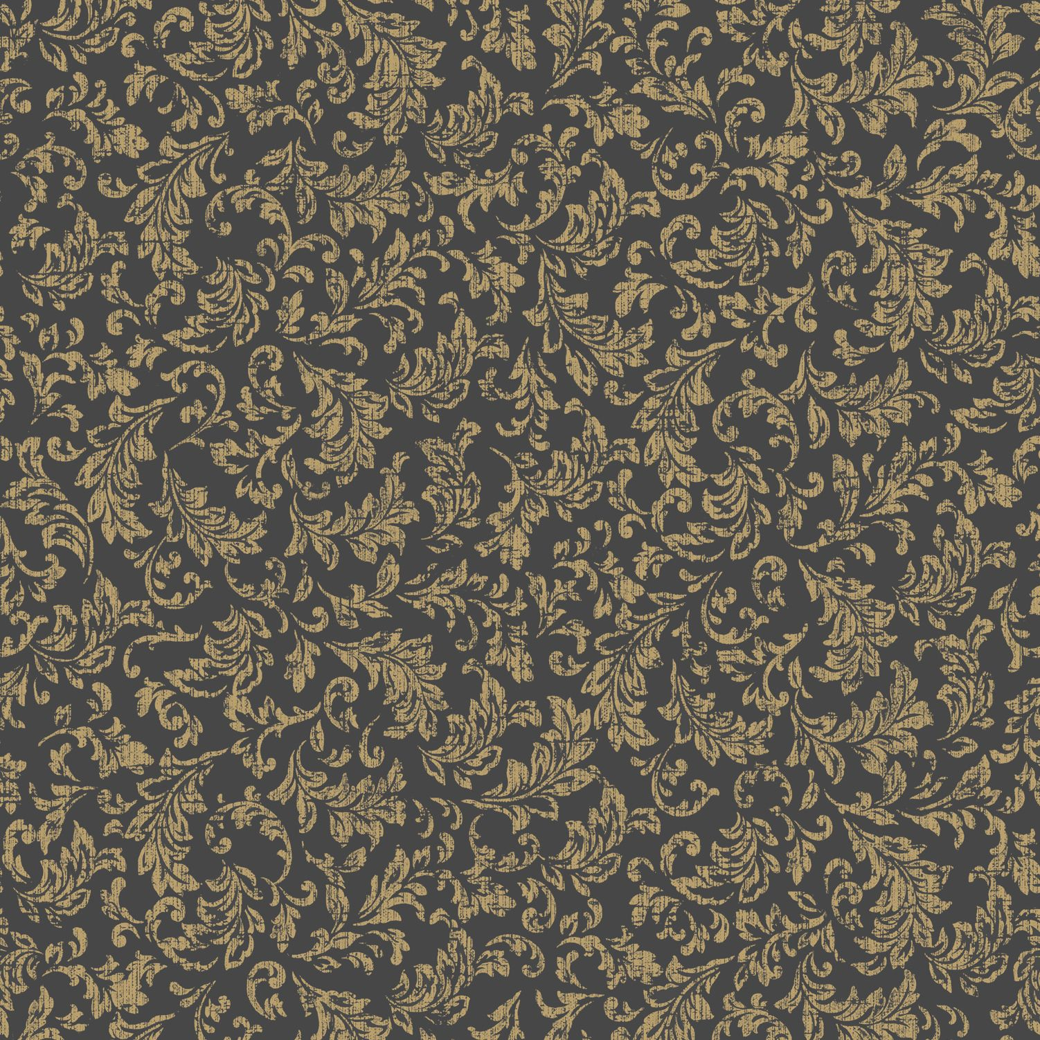 K2 Sasha Black Gold Effect Geometric Wallpaper