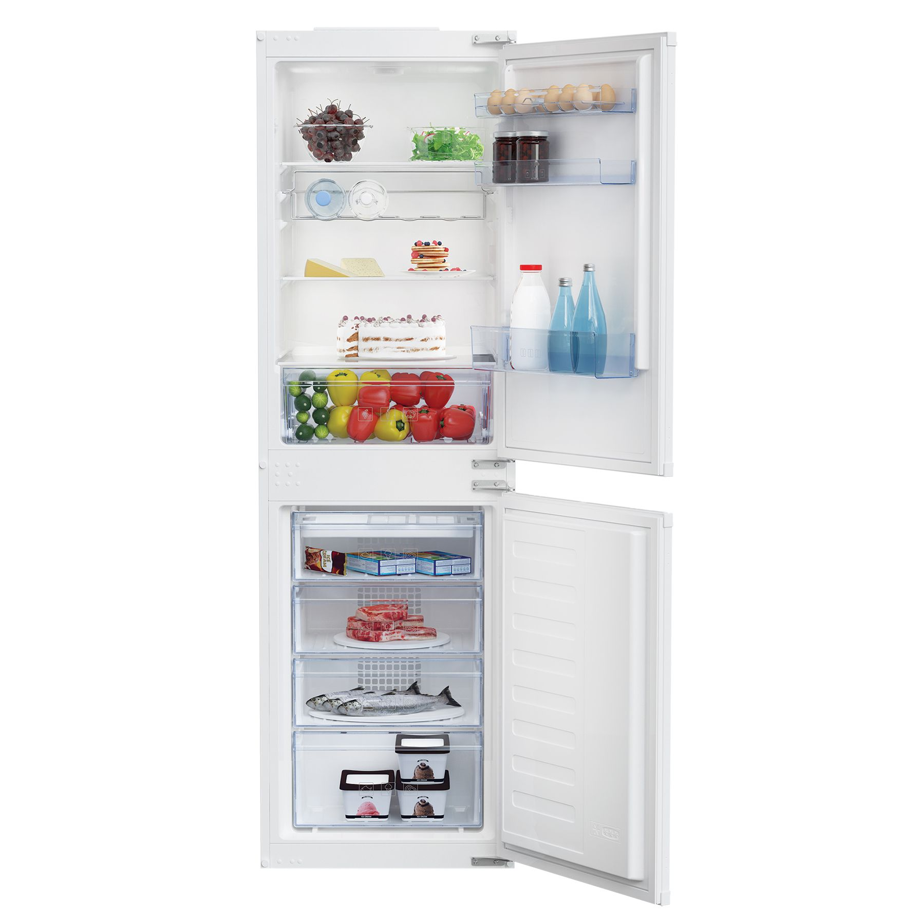 Product Information This Integrated Fridge Freezer