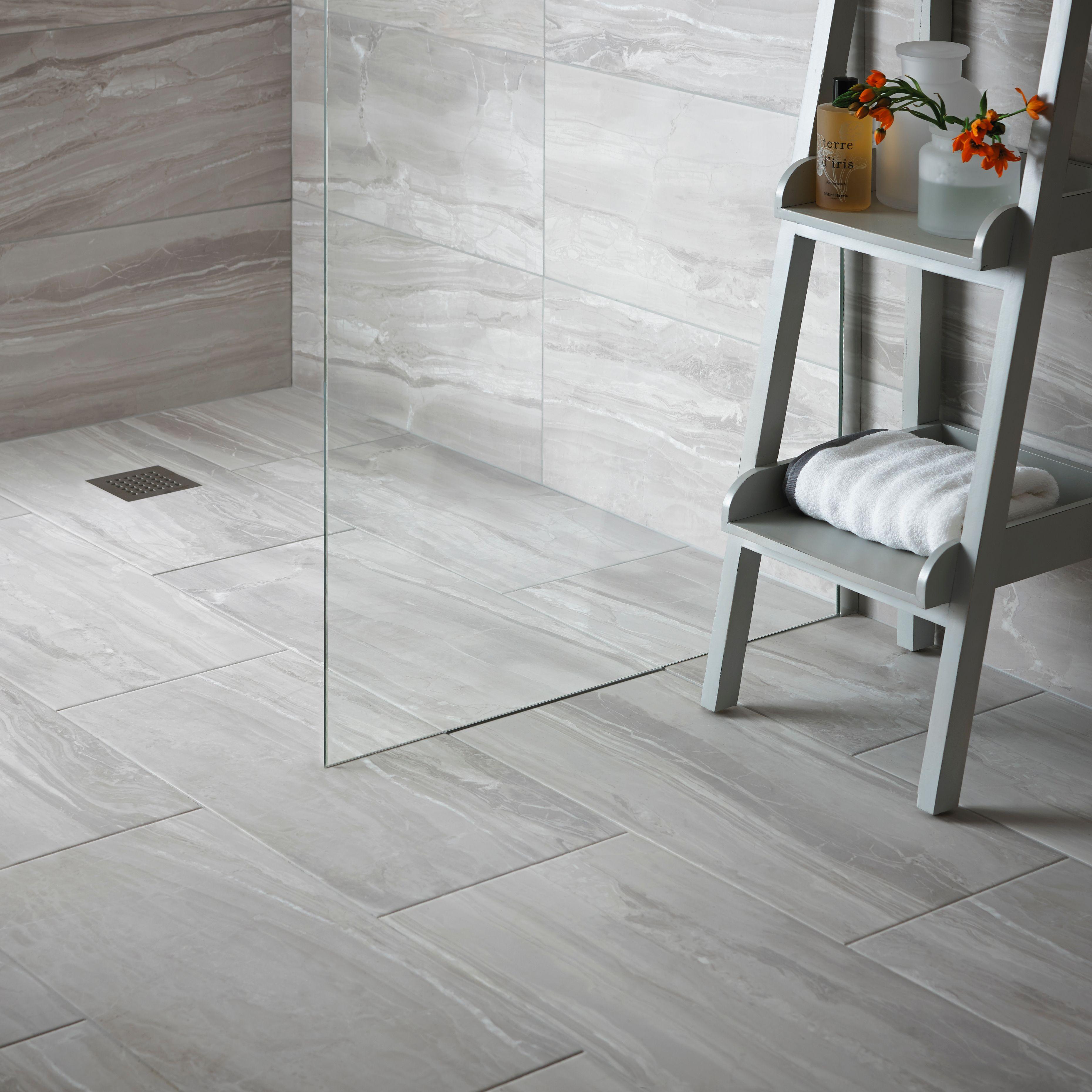 Fossilised Wood Pebble Stone Effect Ceramic Wall & Floor Tile, Pack ...