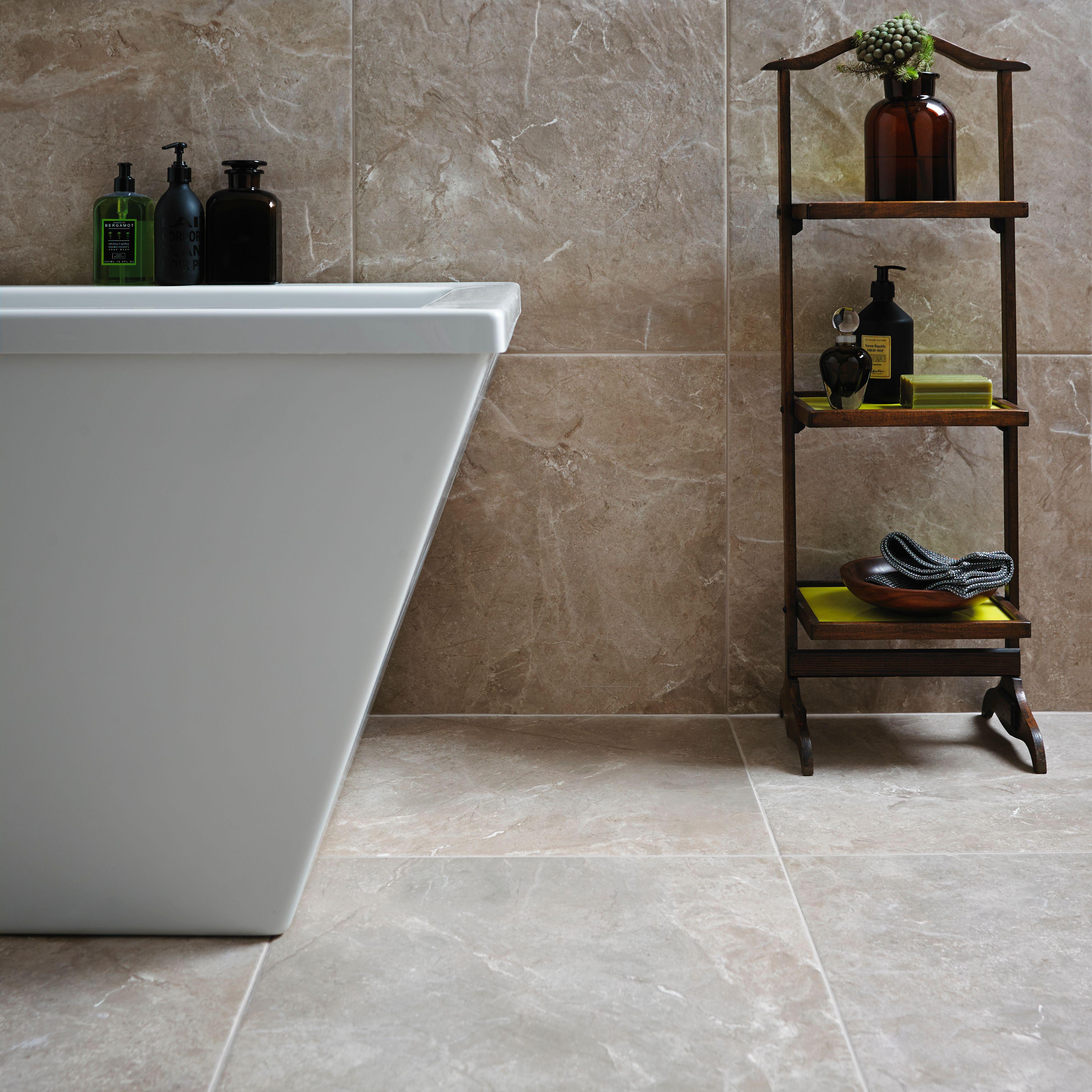 Burlington Limestone Earth Riven Stone Effect Ceramic Wall & Floor ...