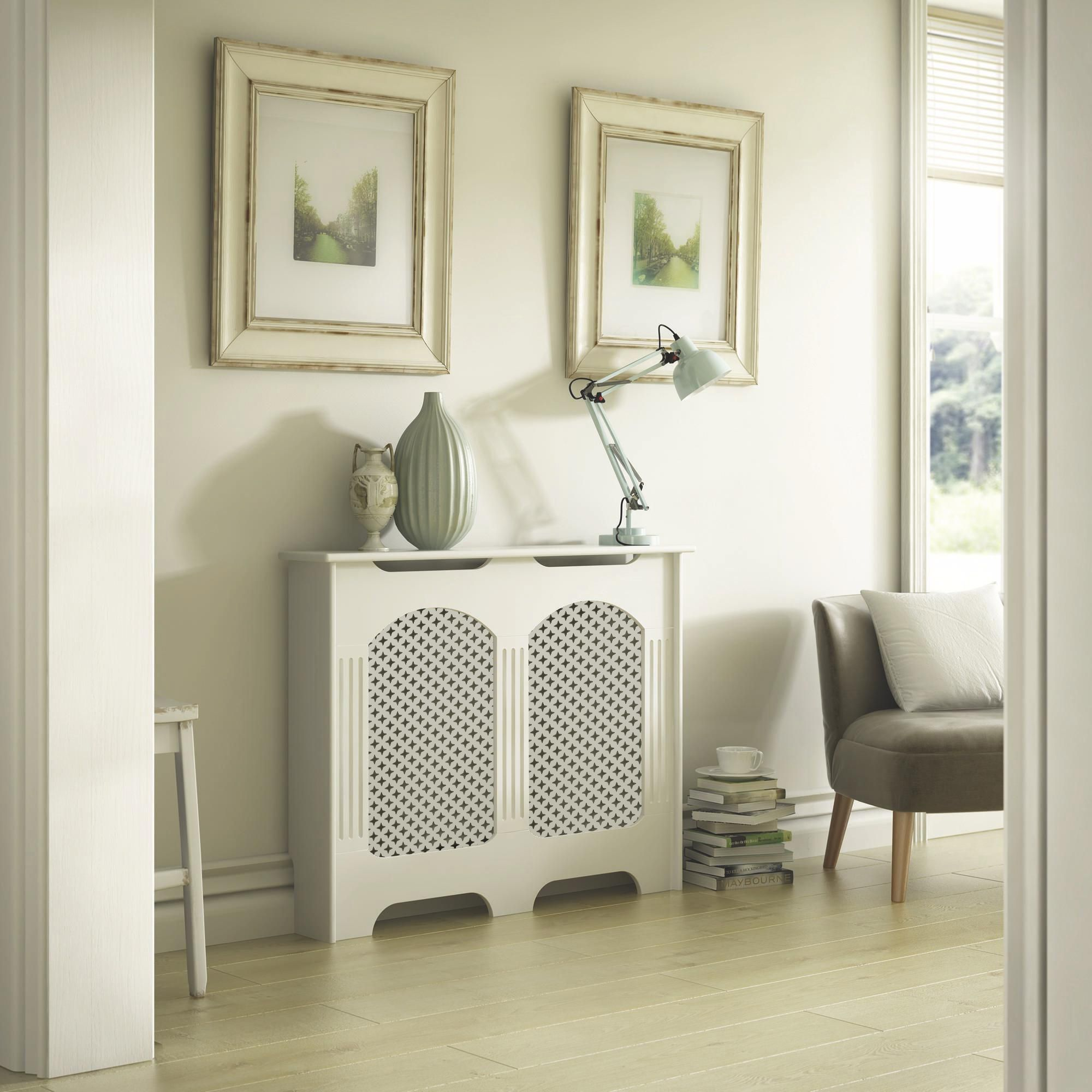 Cambridge Small White Painted Radiator Cover