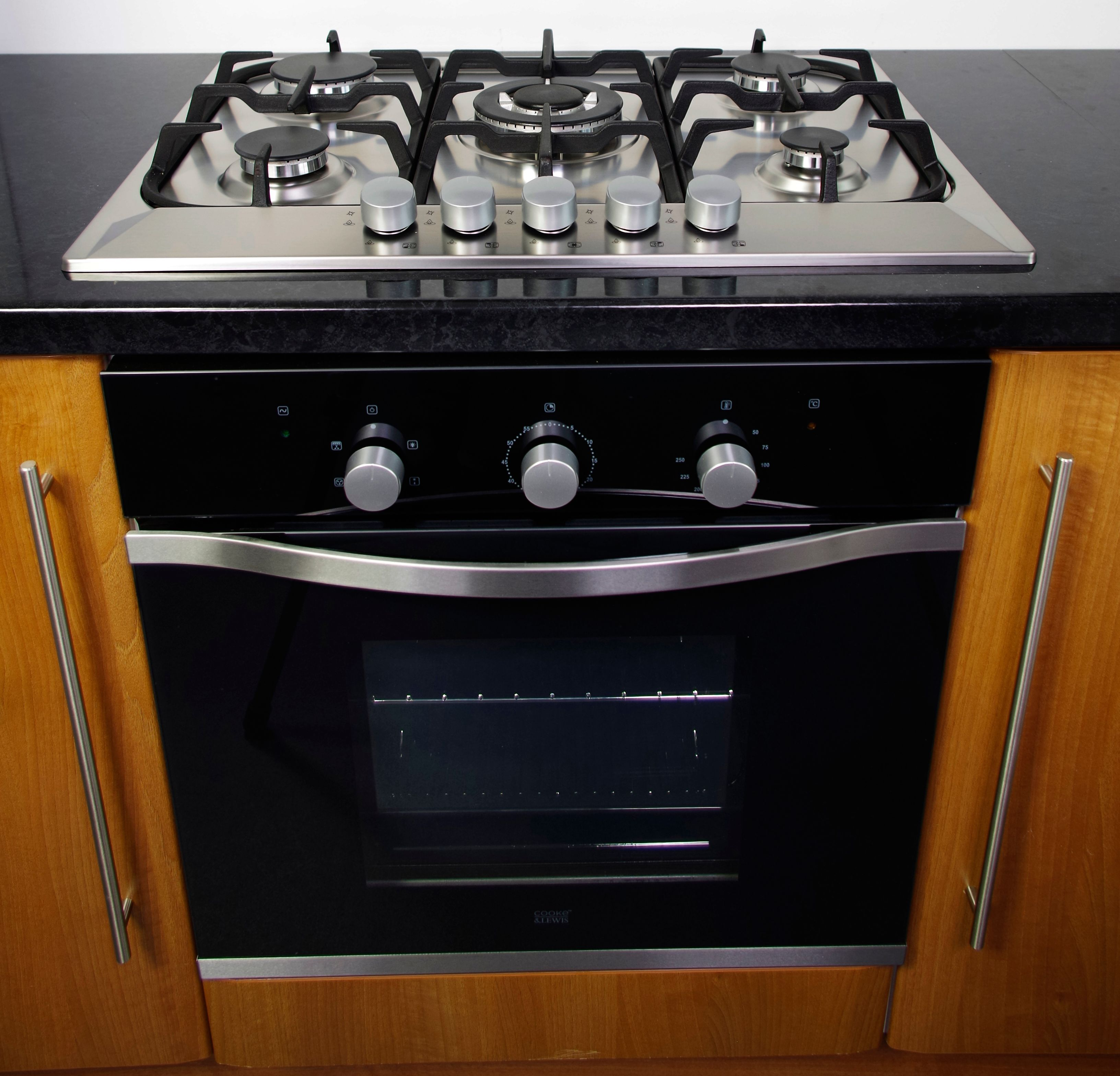 Cooke Lewis Clgh1ss C 5 Burner Cast Iron Stainless Steel Gas Gas Hob