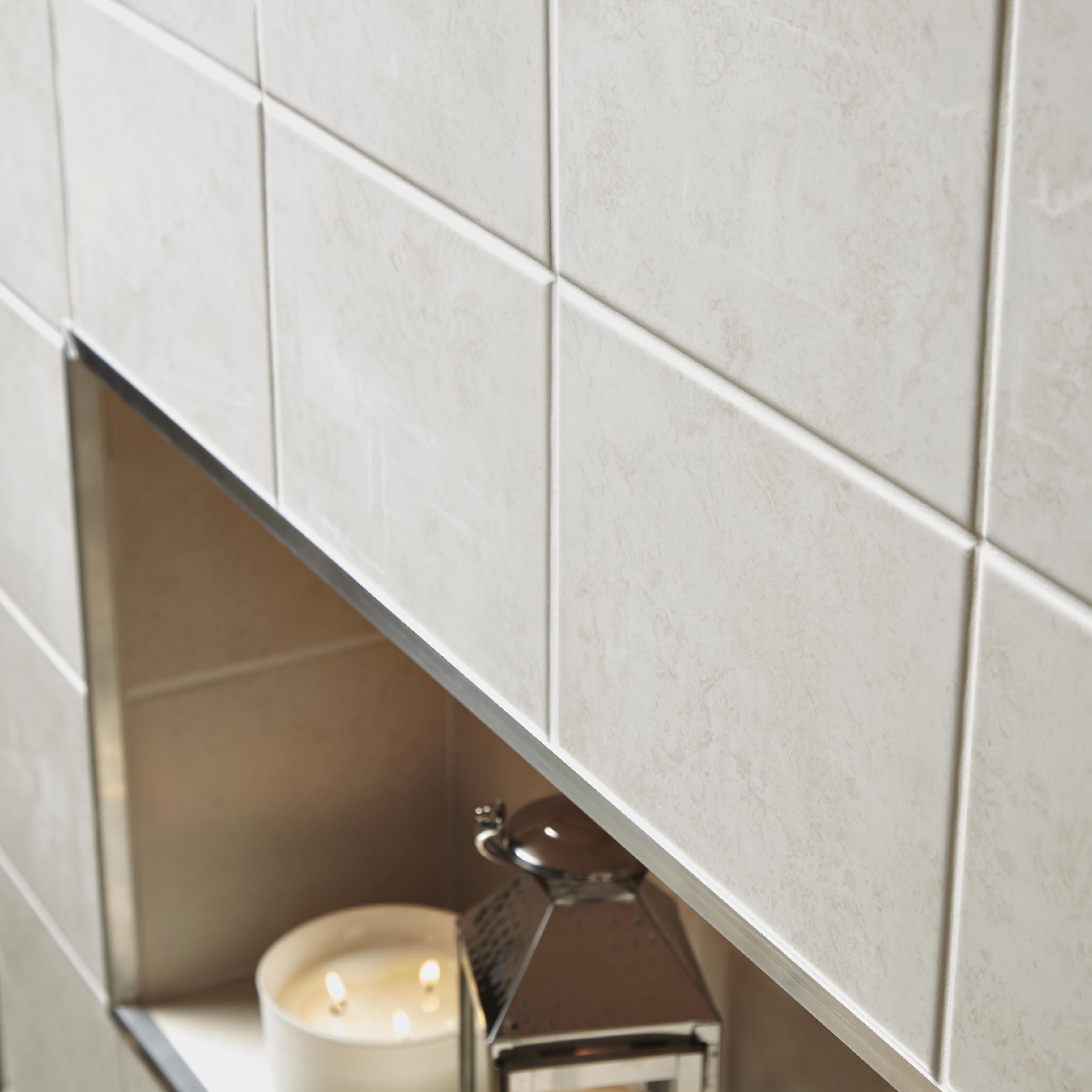 helena light grey ceramic wall tile pack of 20 l 250mm w 200mm