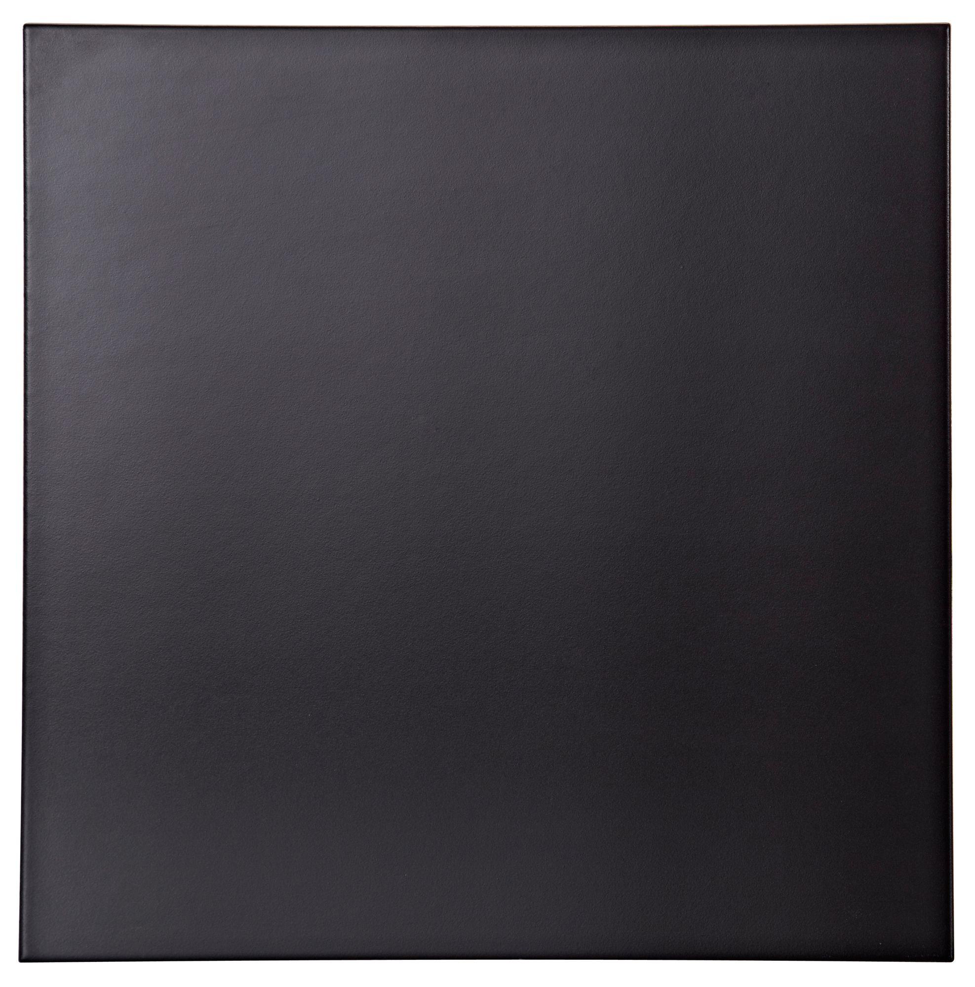 Umbria Black Porcelain Floor Tile Pack Of 9 L333mm W333mm