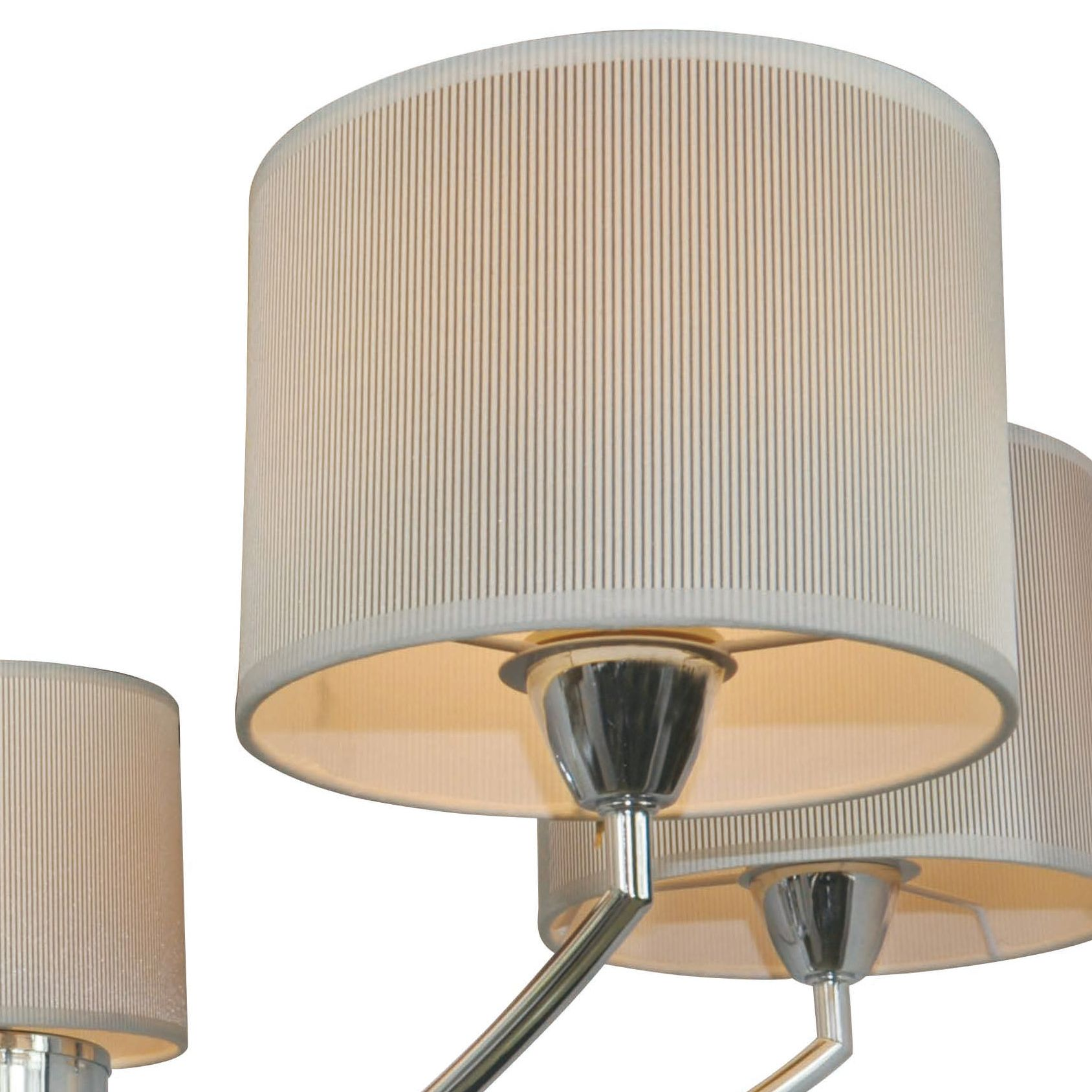 Fides shaded grey chrome effect 5 lamp pendant ceiling light aloadofball Image collections