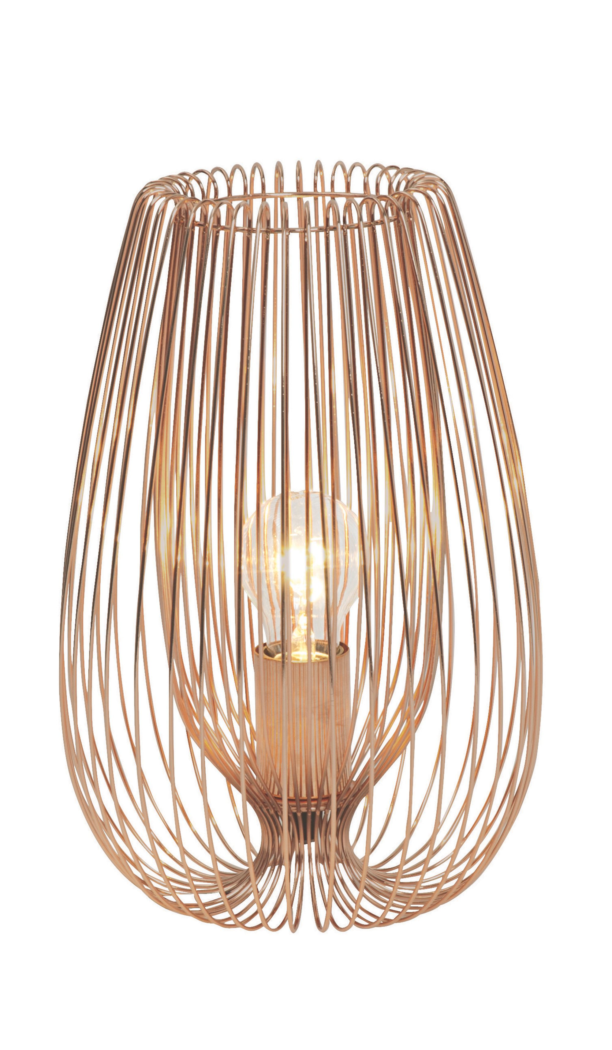 Jonas copper wire table lamp greentooth Choice Image