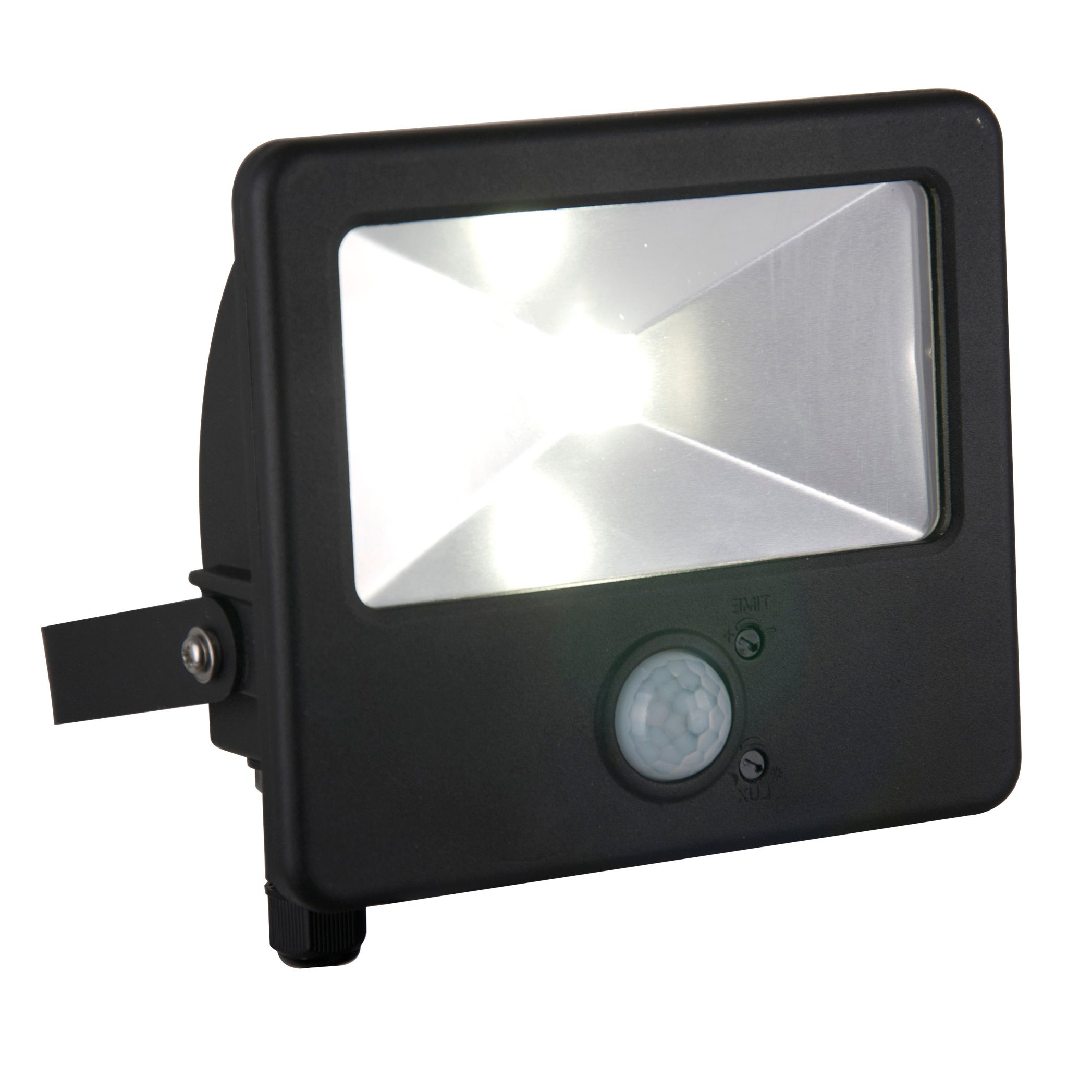 Blooma Bythos Black 10w Mains Ed External Pir Security Flood Light