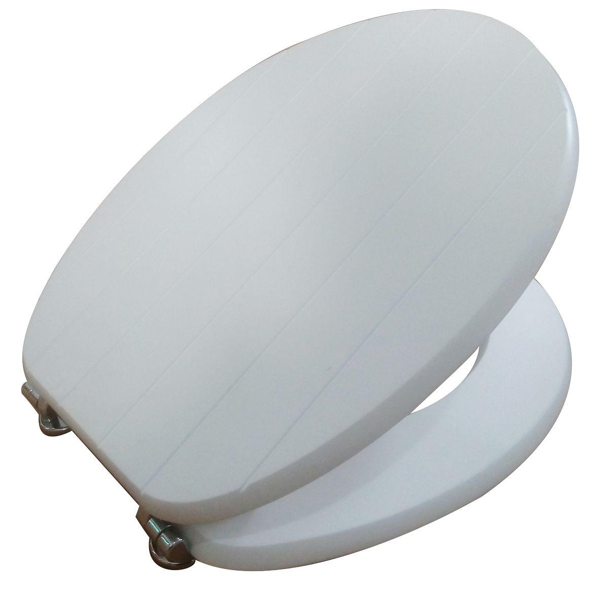 Cooke Lewis Nicolina White Tongue Groove Toilet Seat