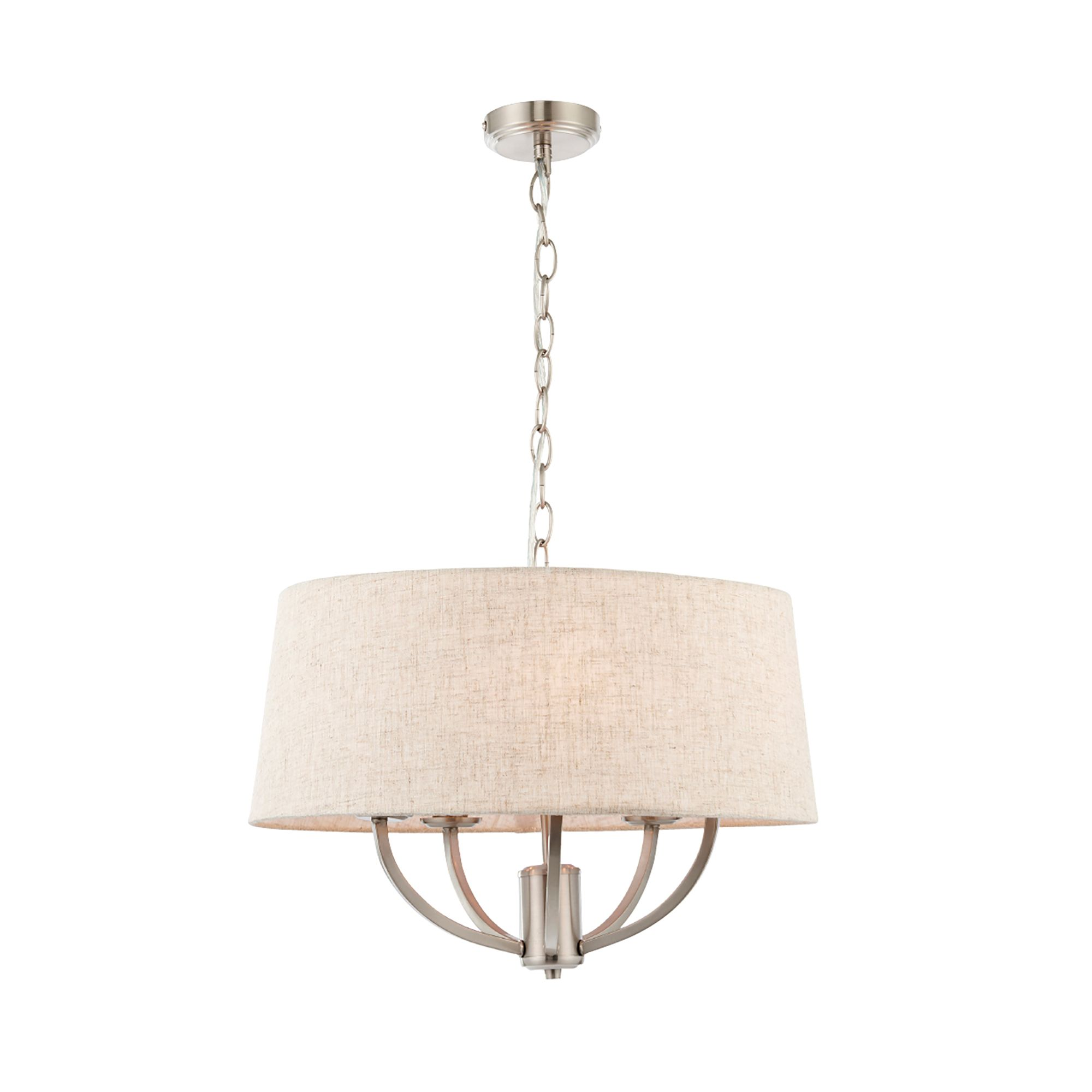 buy online 60522 4ea41 Hampstead Natural Linen Effect 5 Lamp Ceiling Light