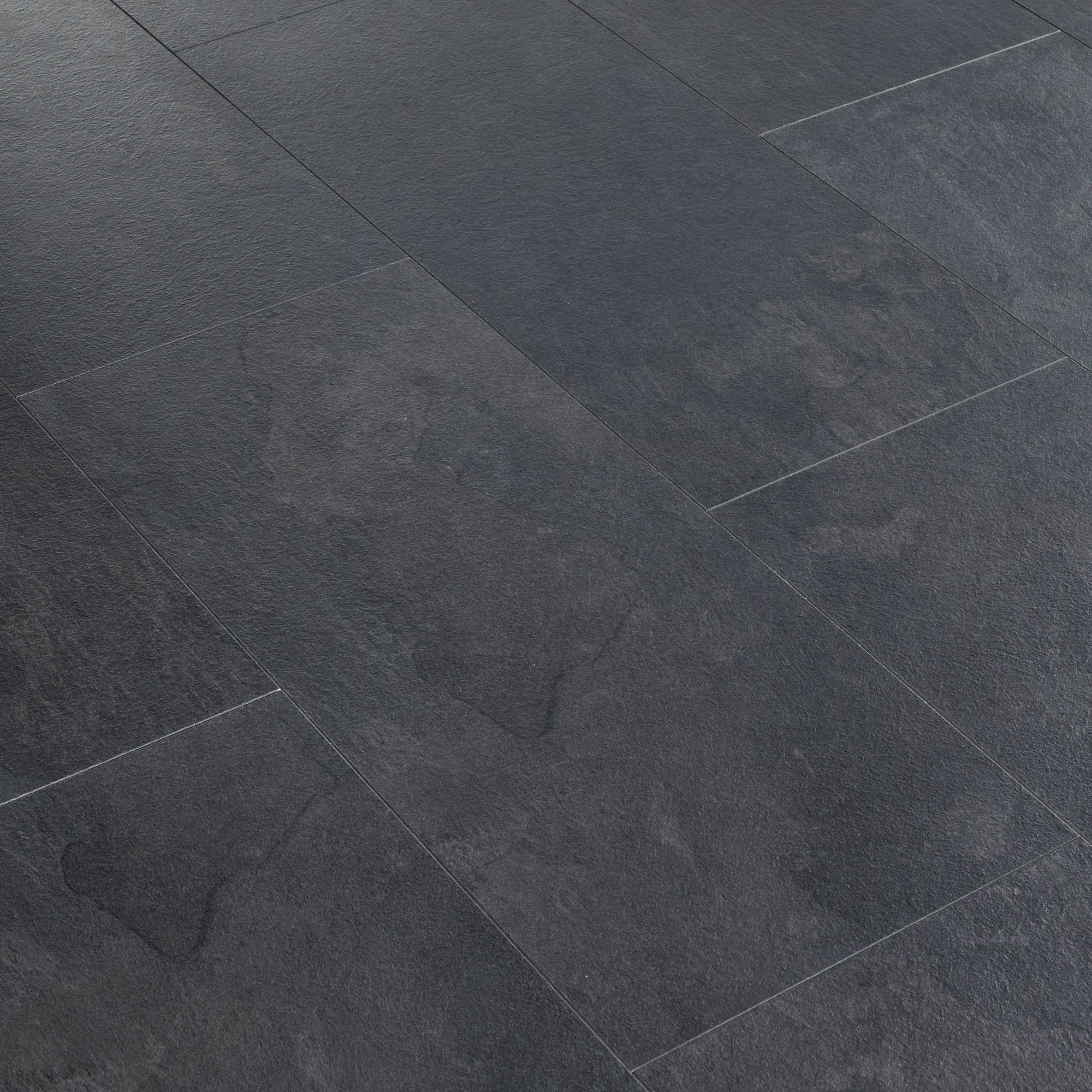 Harmonia Black Slate Effect Laminate, Harmonia Black Slate Effect Laminate Flooring 2 05m2 Pack