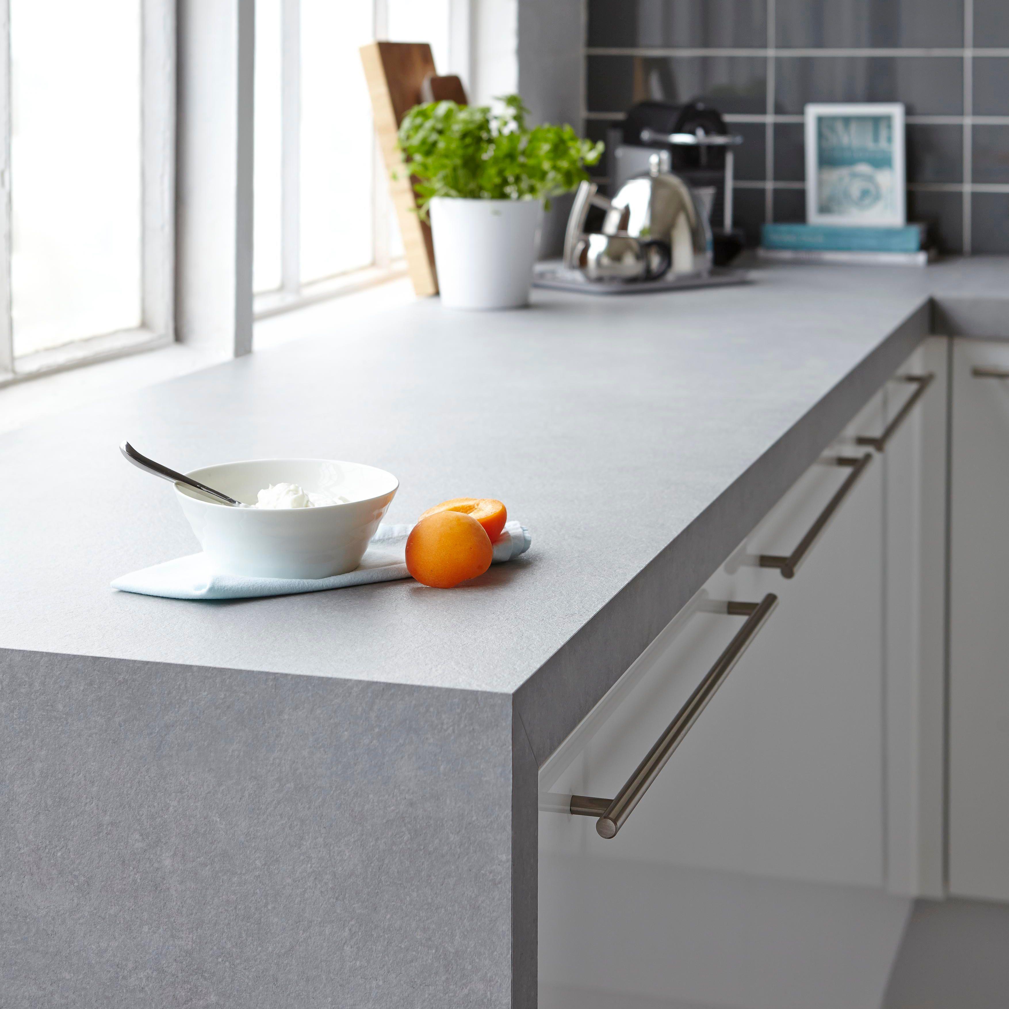 50mm B&Q Tectonica Square Edge Kitchen Worktop (L)3m (D)600mm