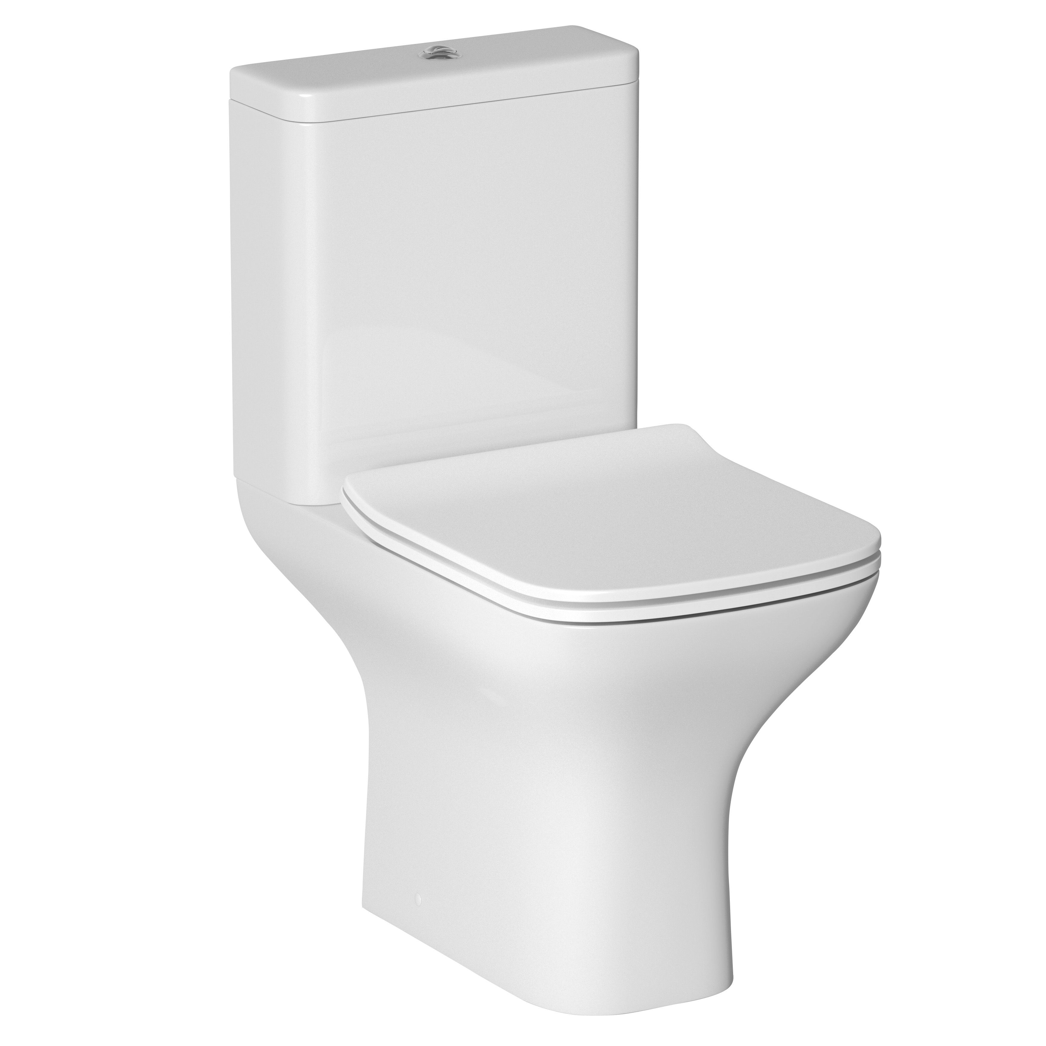 Cooke Lewis Lanzo Close Coupled Toilet With Soft Close Seat